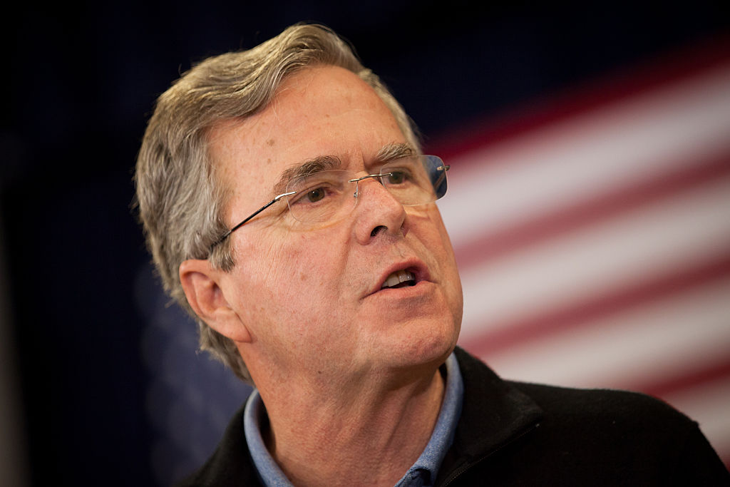 Republican Presidential Candidate Jeb Bush Holds Town Hall In Bedford, NH