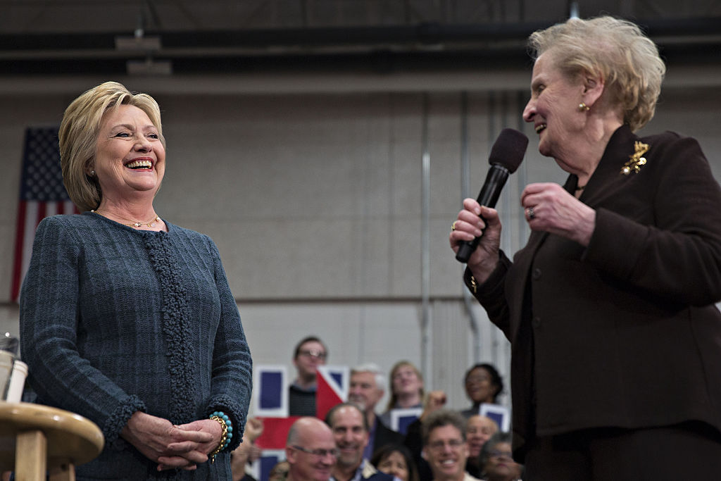 Presidential Candidate Hillary Clinton Holds New Hampshire Rally