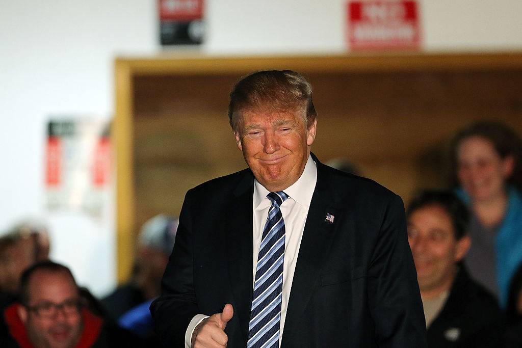 Donald Trump Campaigns Across New Hampshire Ahead Of Primary Day
