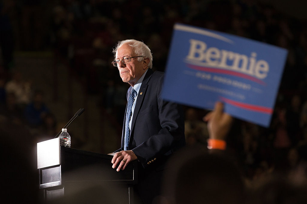 Democratic Presidential Candidate Bernie Sanders Campaigns In Western Massachusetts