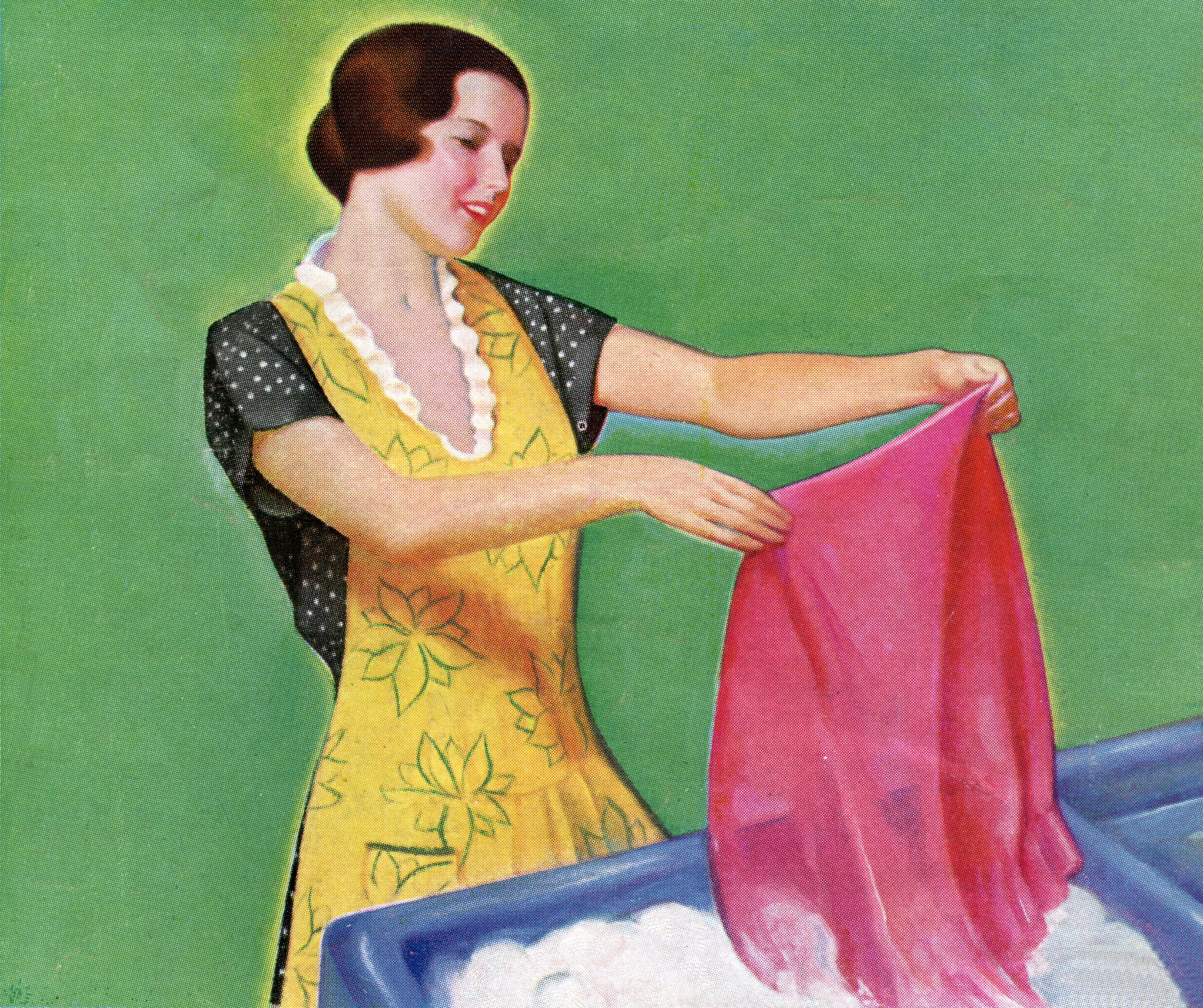 Housewife Doing Hand Laundry