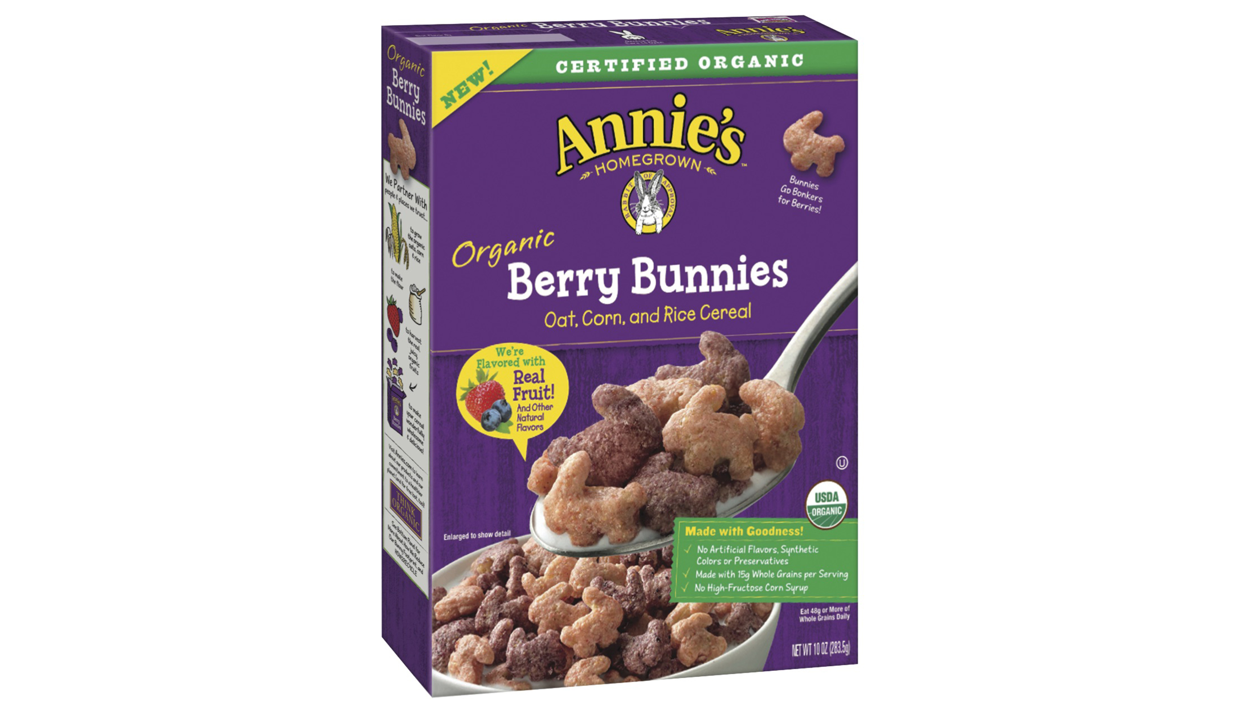 General Mills is launching a line of three Annie's cereals that are made without artificial flavors, synthetic colors, preservatives and high fructose corn syrup.