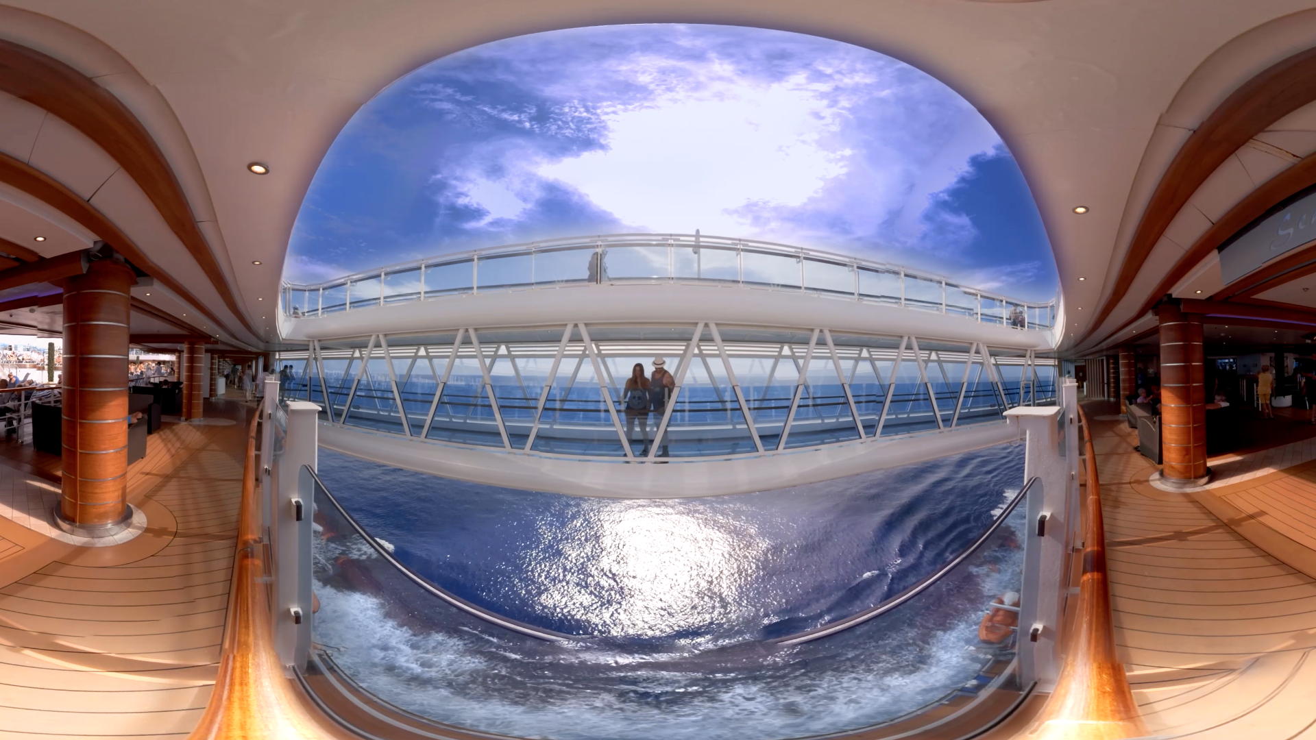 This 360-degree image of the SeaWalk aboard the Regal Princess from our Princess Cruises Line is part of a new virtual reality marketing campaign.