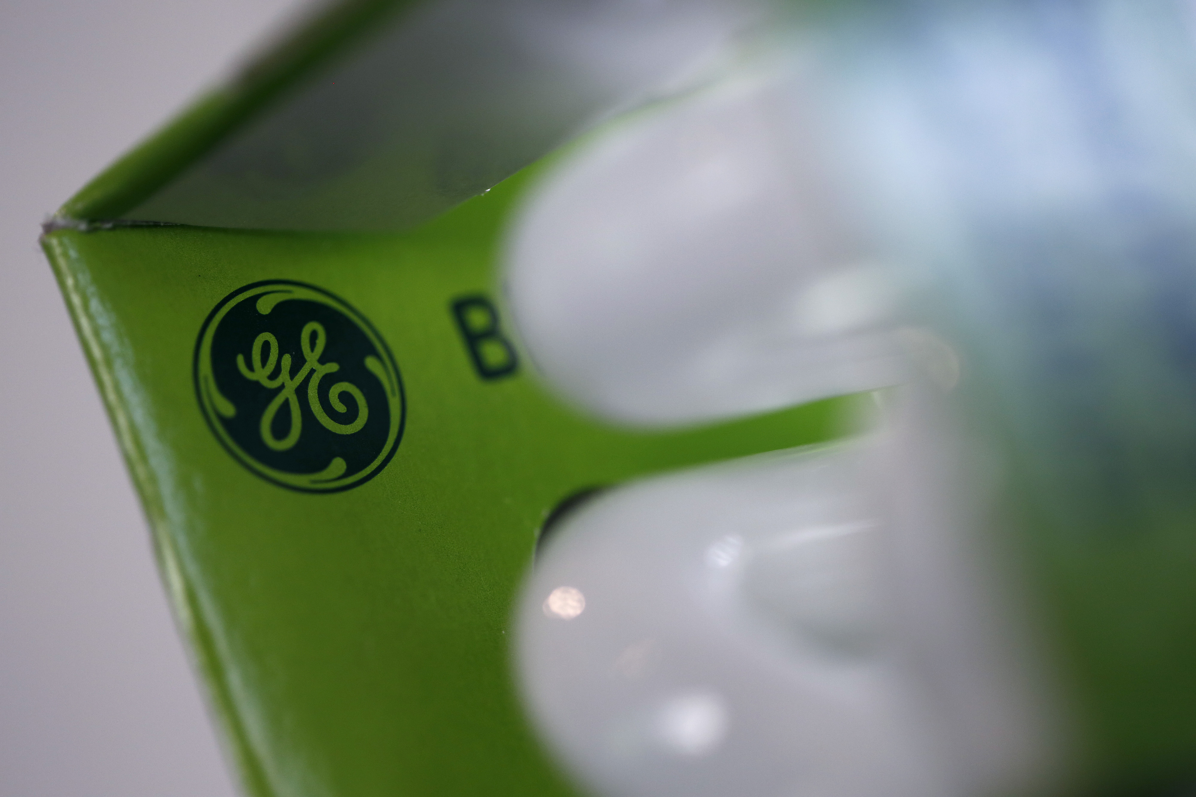 General Electric Co. Branded Light Bulbs As Manufacturer Makes $17 Billion Bid For Alstom SA's Energy Business