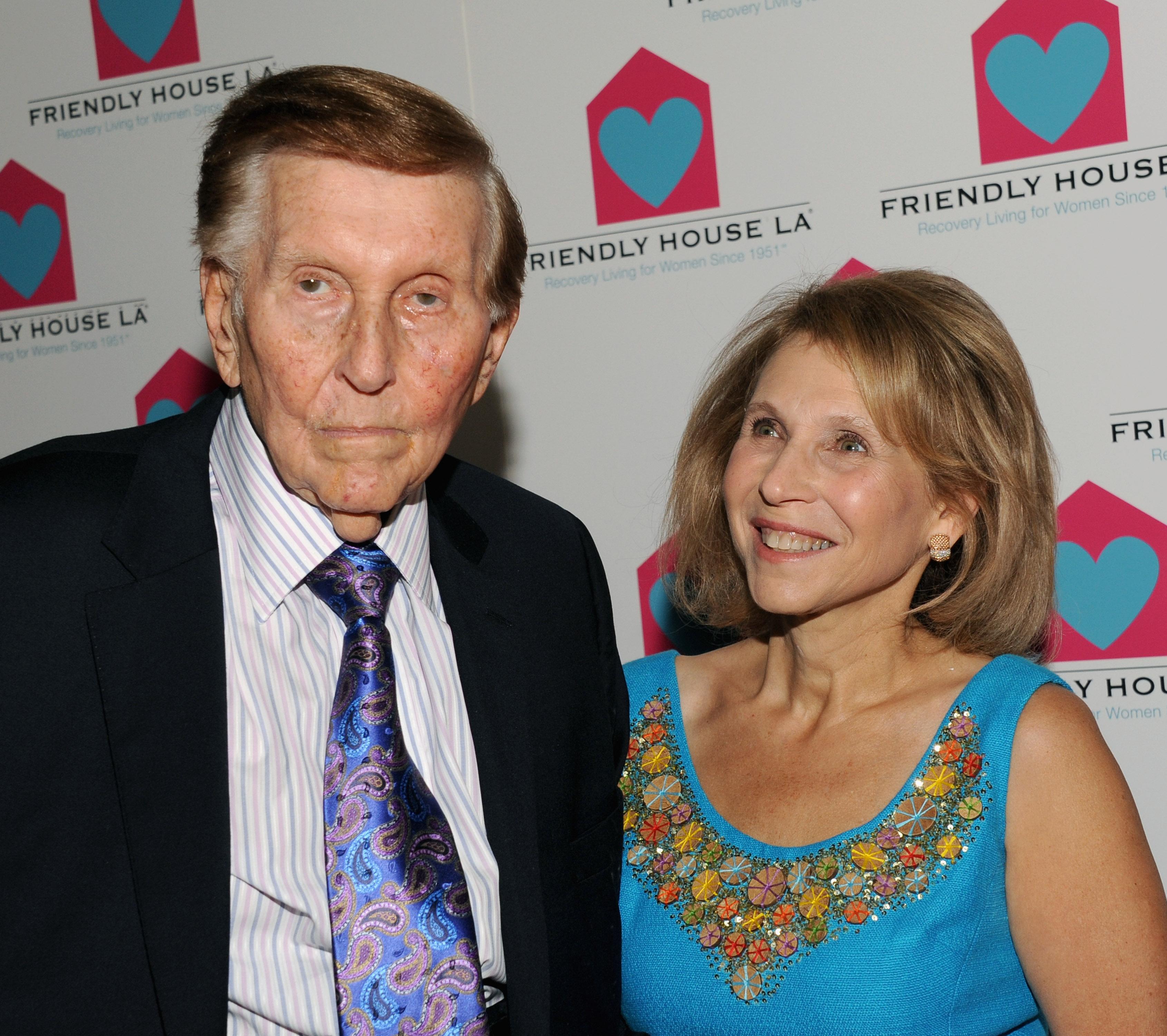 Sumner and Shari Redstone at a 2012 gala.