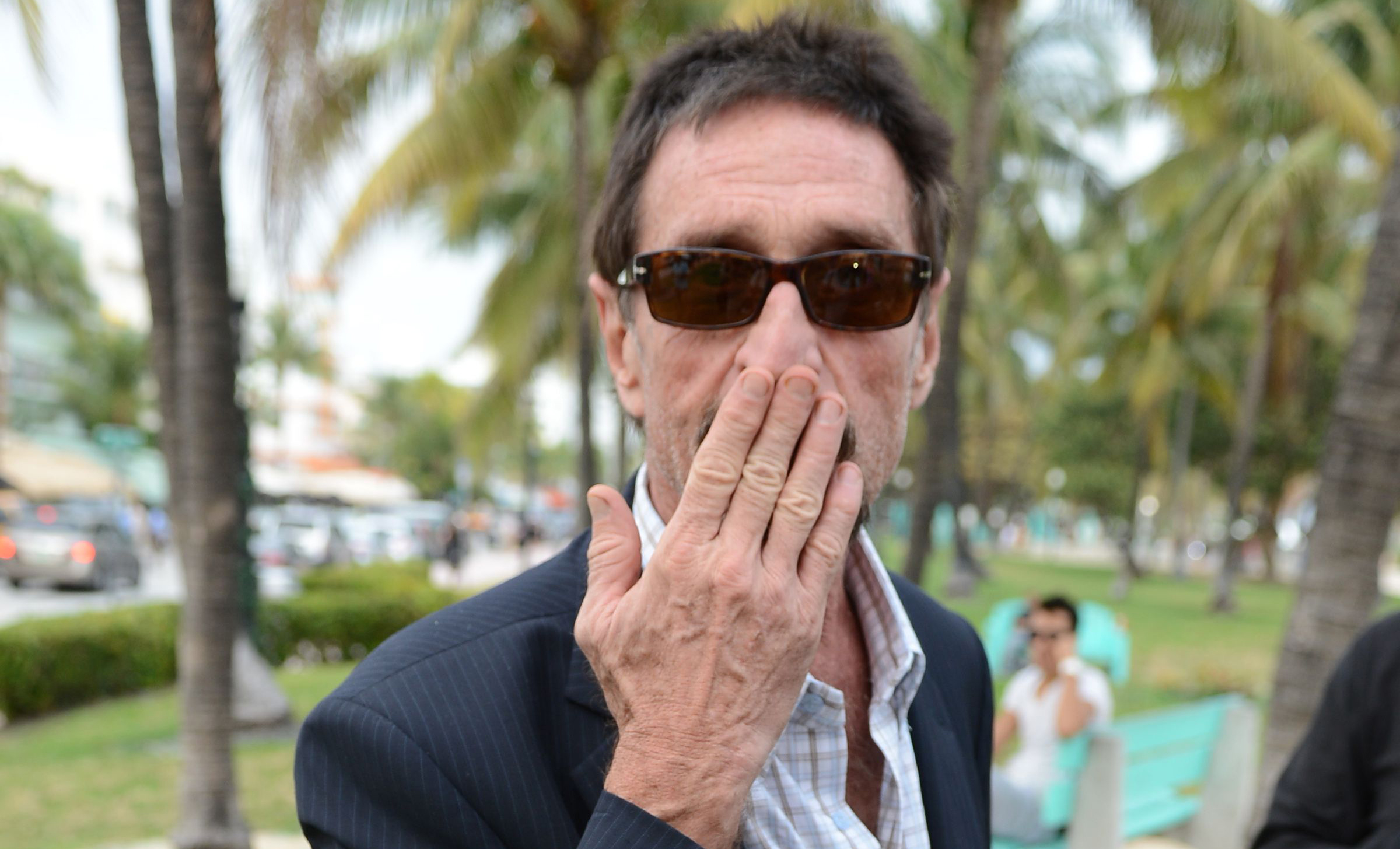Belize Fugitive John McAfee Lands In Miami And Visits South Beach