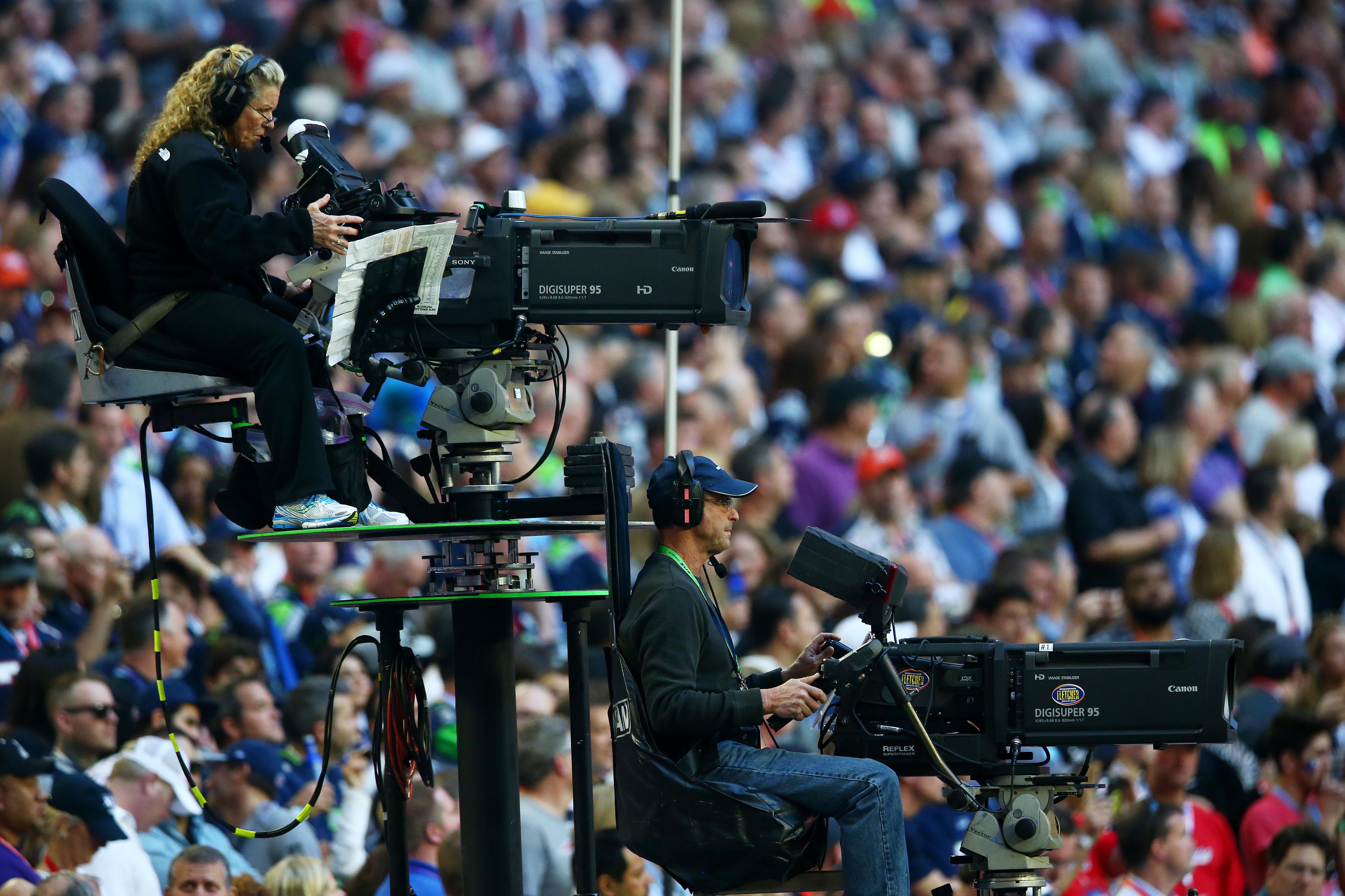TV Cameras at Super Bowl XLIX
