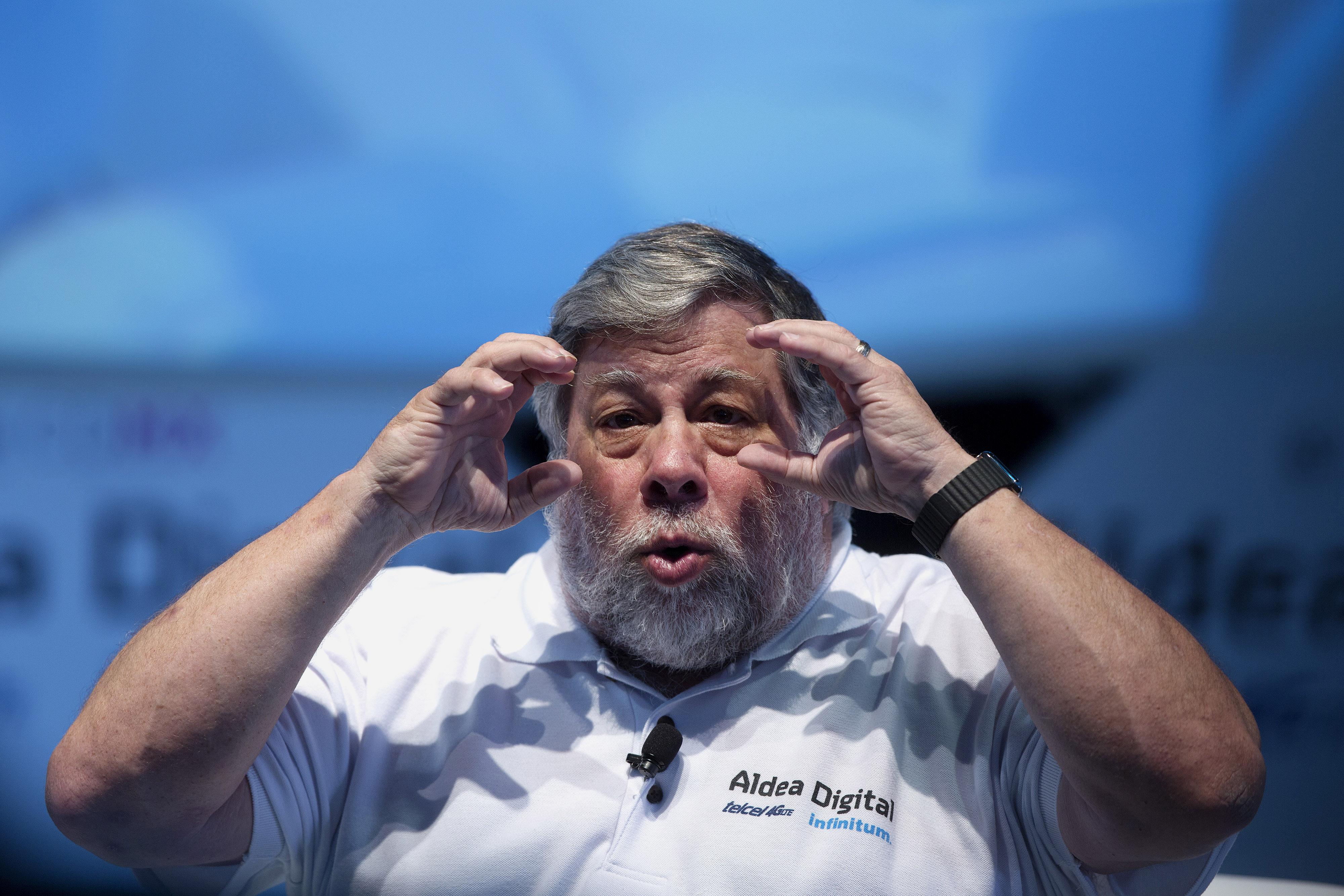 Apple Inc. Co-Founder Steve Wozniak Speaks At Opening Of Telcel Digital Village