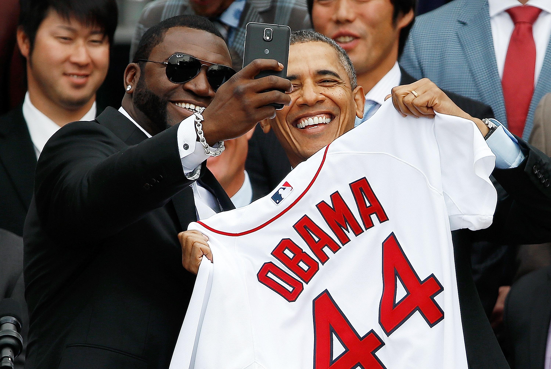 Obama Selfie with David Ortiz