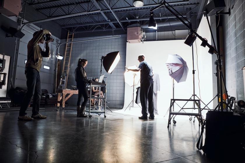 Film Crew Working on Set