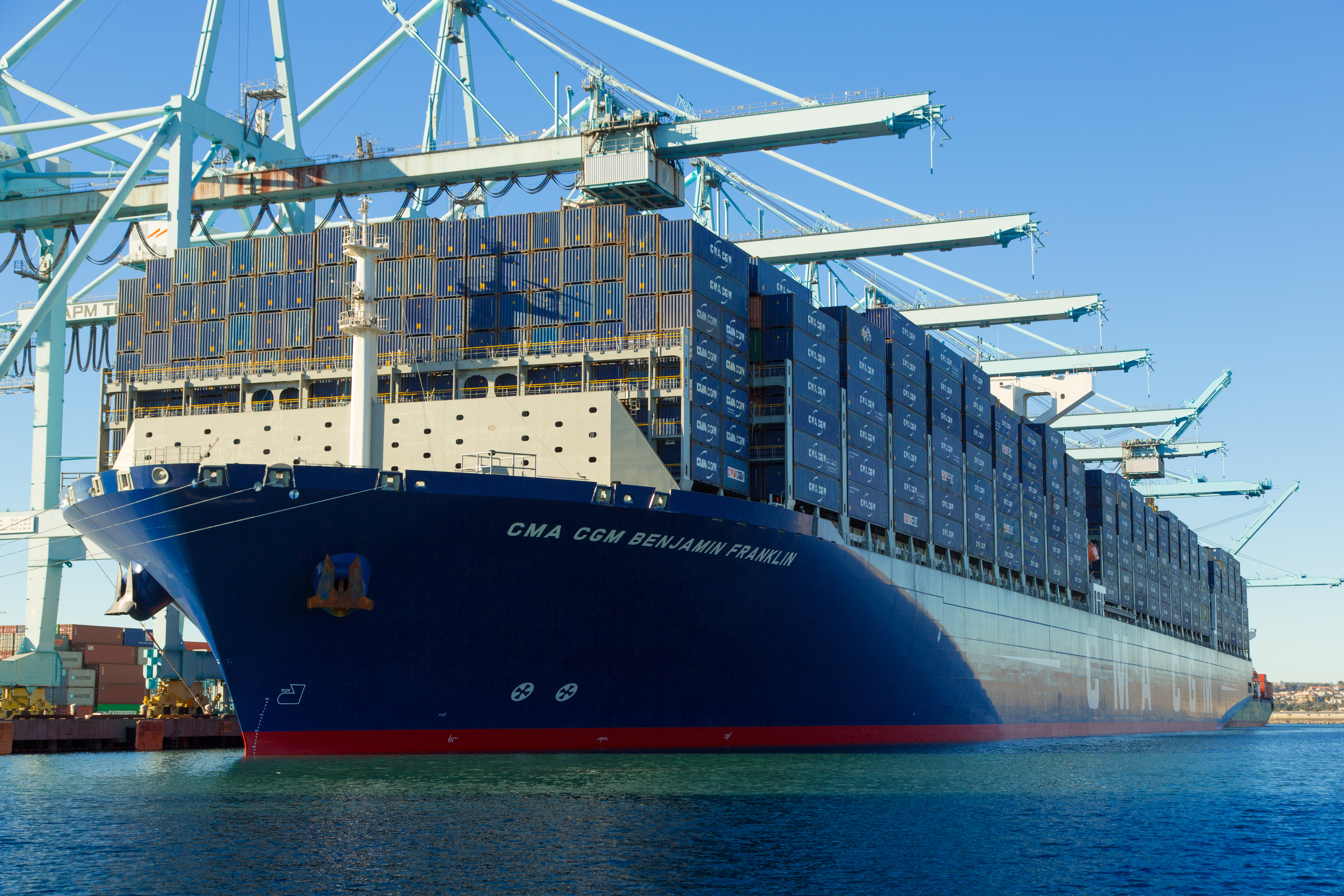 The Port Of Los Angeles Welcomes Largest Container Ship Yet To U.S.