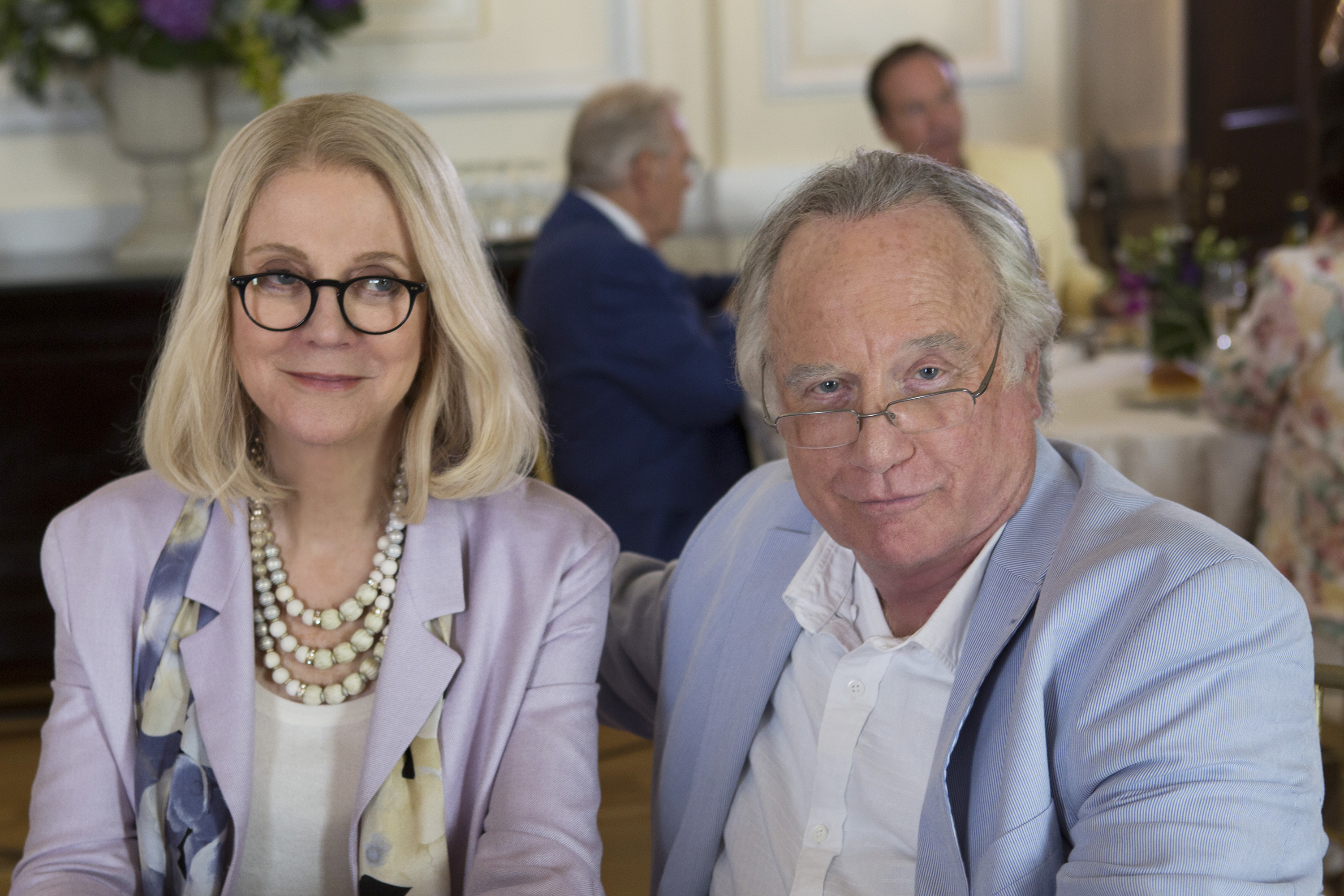 Actors Blythe Danner and Richard Dreyfuss portray Ruth Madoff and Ponzi schemer Bernie Madoff in an ABC miniseries.