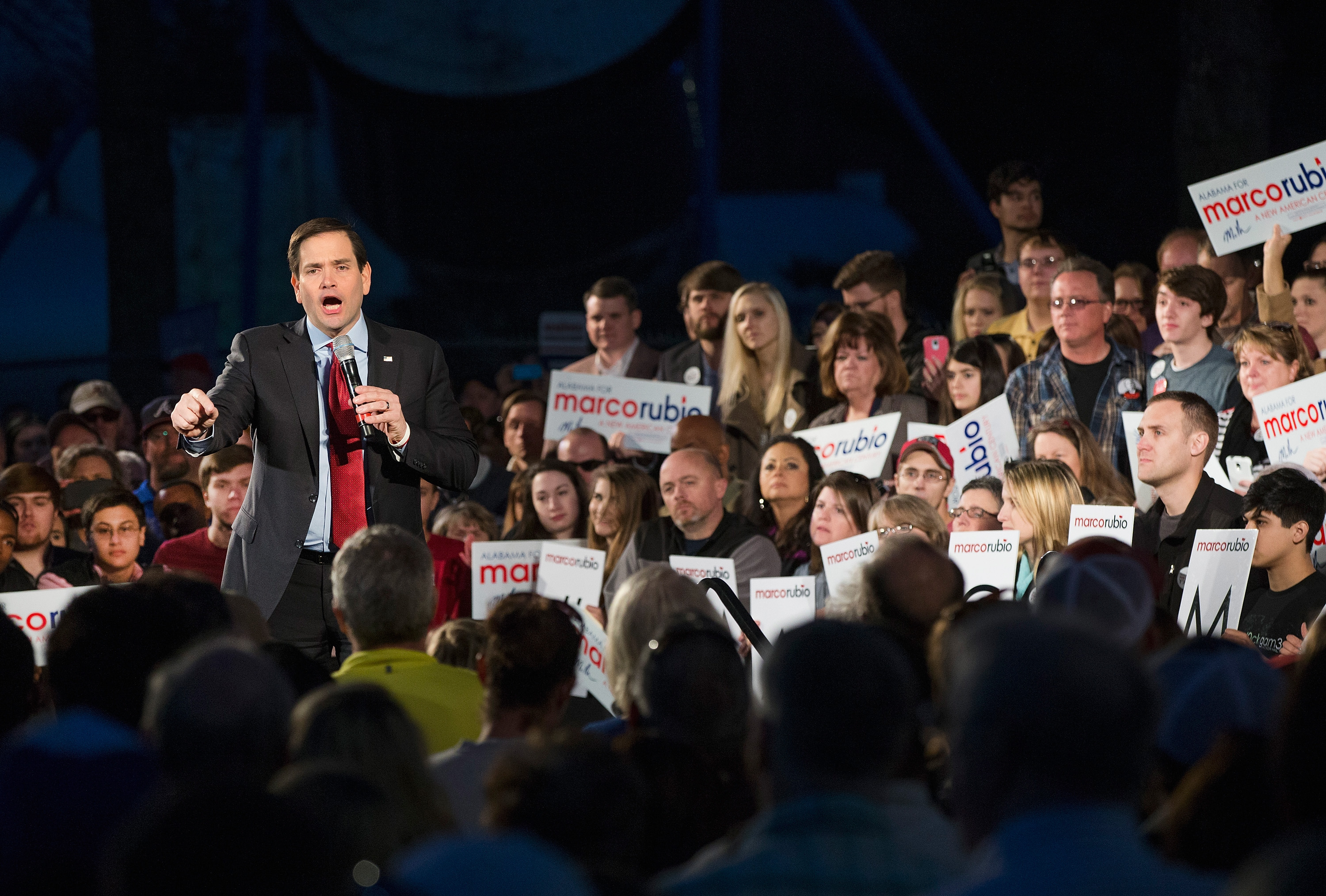 Marco Rubio Campaigns In Alabama Ahead Of Super Tuesday