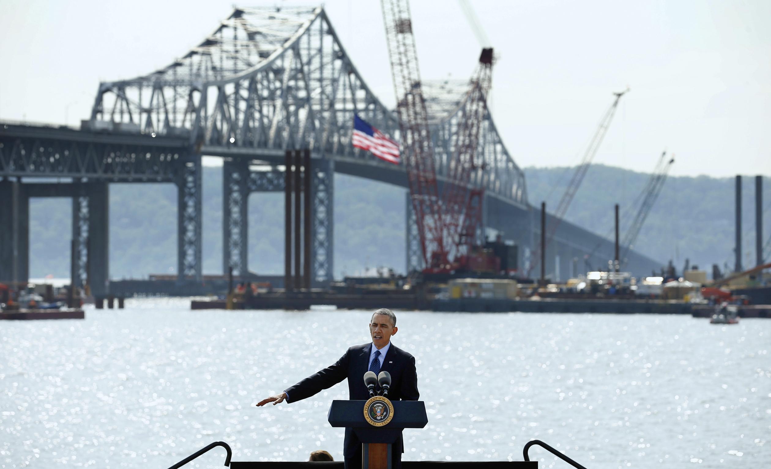 U.S. President Barack Obama, Tappan Zee Bridge
