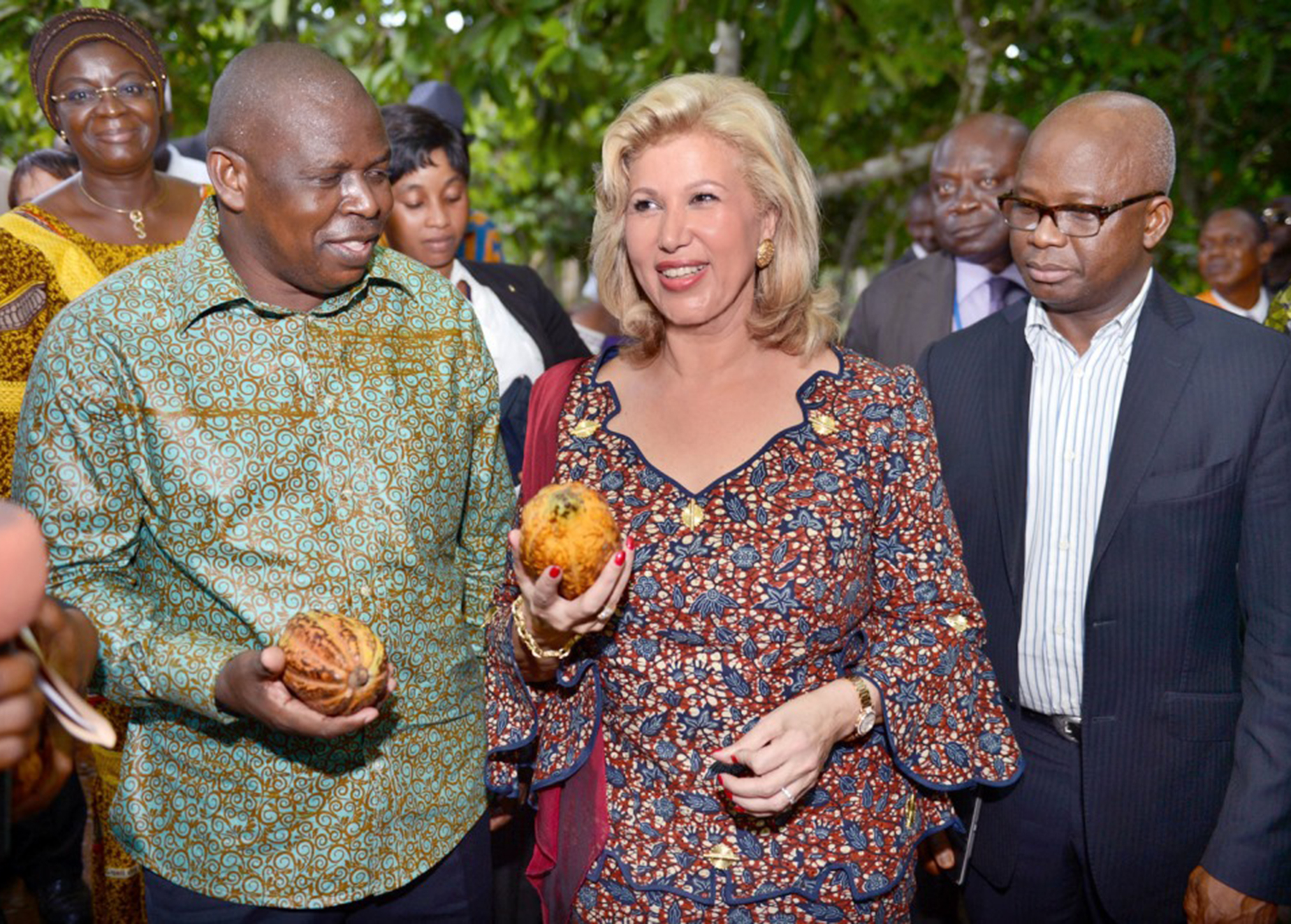 The First Lady of Ivory Coast, Madame Dominique Ouattara, is coordinating her country's efforts to address child labor in cocoa farming.