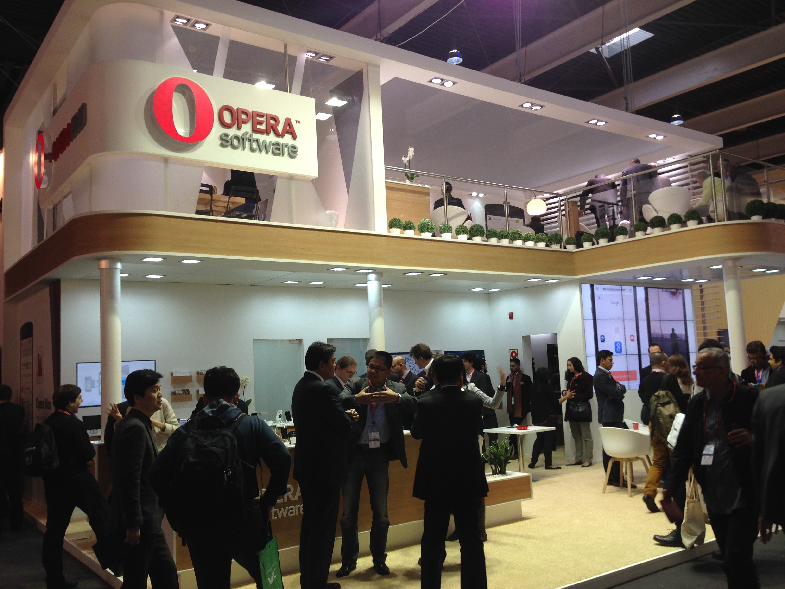 Opera Software stand at Mobile World Congress 2014