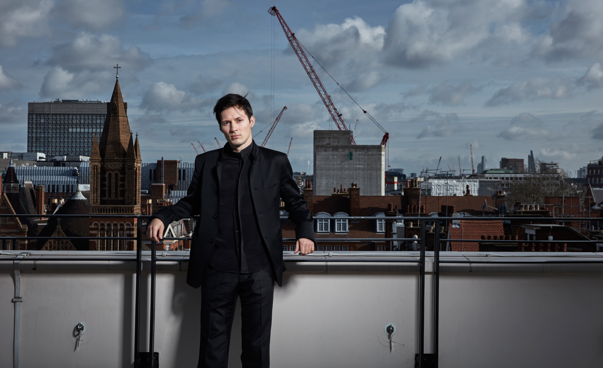 Pavel Durov in London, February 12th.