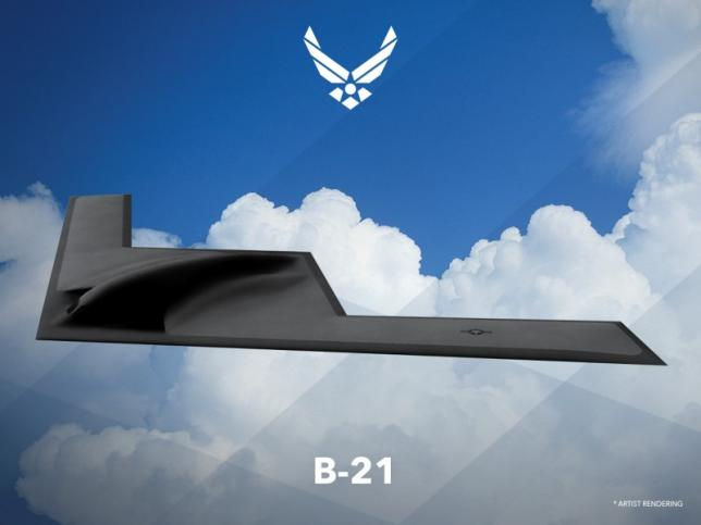 An artist rendering shows the first image of a new Northrop Grumman Corp long-range bomber