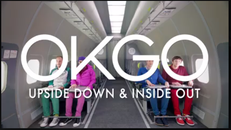 """OK Go released its latest video, """"Upside Down & Inside Out,"""" on Facebook only Thursday."""