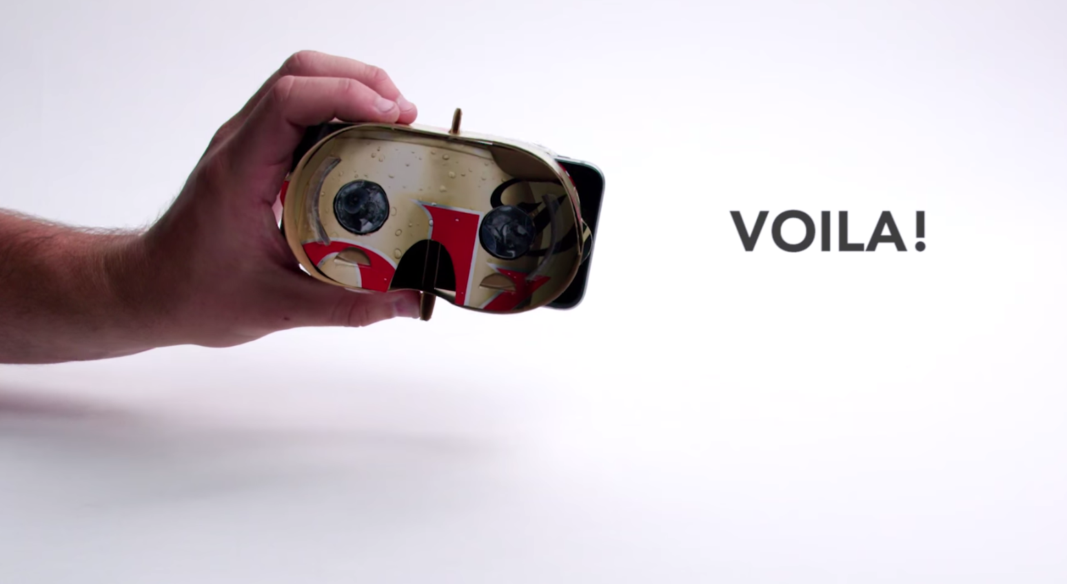 Coca-Cola's prototype virtual reality viewer is made from cardboard packaging.