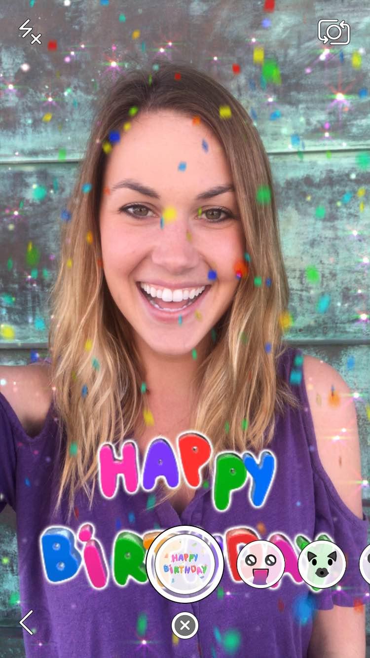 Snapchat birthday lens