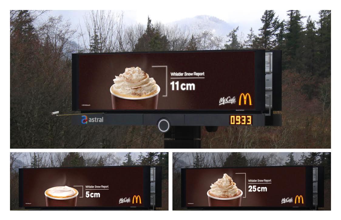 McDonald's digital billboard designed by Cossette.