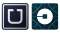 "Uber changed its original app icon (left) to a new design (right) intended to signify ""bits and atoms."""