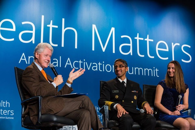 Inventor and entrepreneur Anya Pogharian participated in the Clinton Foundation's Health Matters Summit this January, discussing health innovation with President Bill Clinton and U.S. Surgeon General Vivek Murthy.