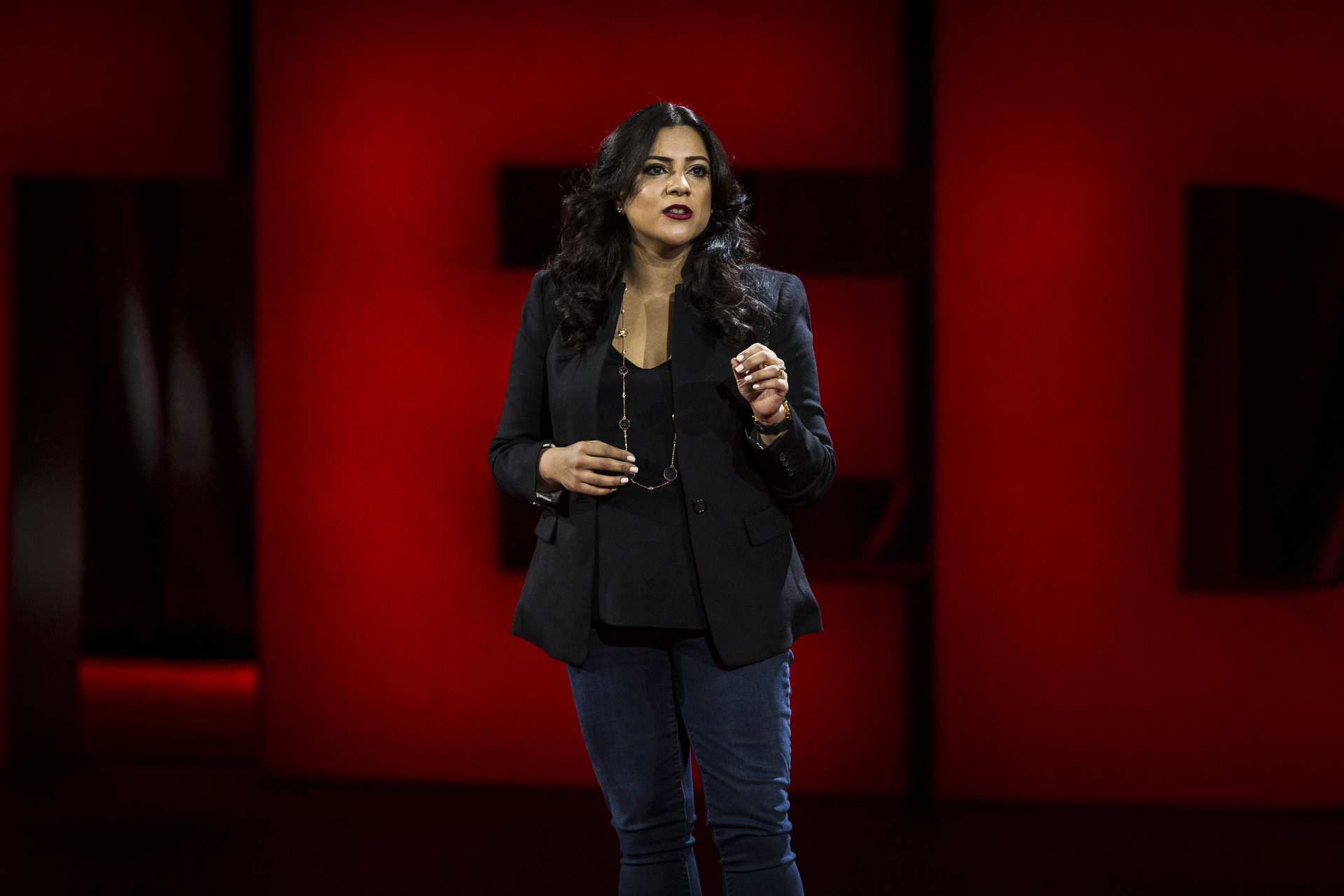 Reshma Saujani speaks at TED2016 - Dream, February 15-19, 2016, Vancouver Convention Center, Vancouver, Canada. Photo: Marla Aufmuth / TED