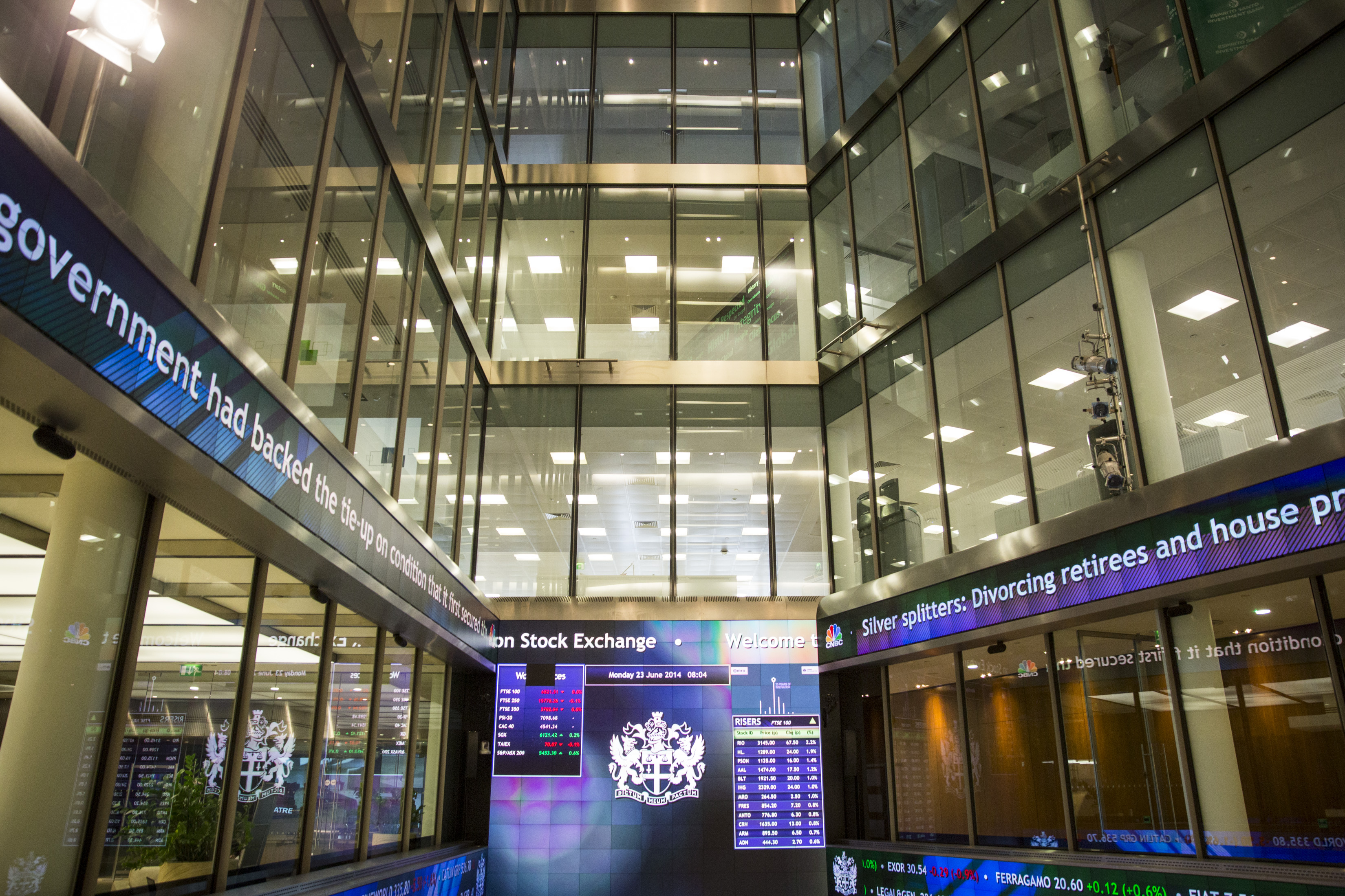 London Stock Exchange Is Opened By A Choir