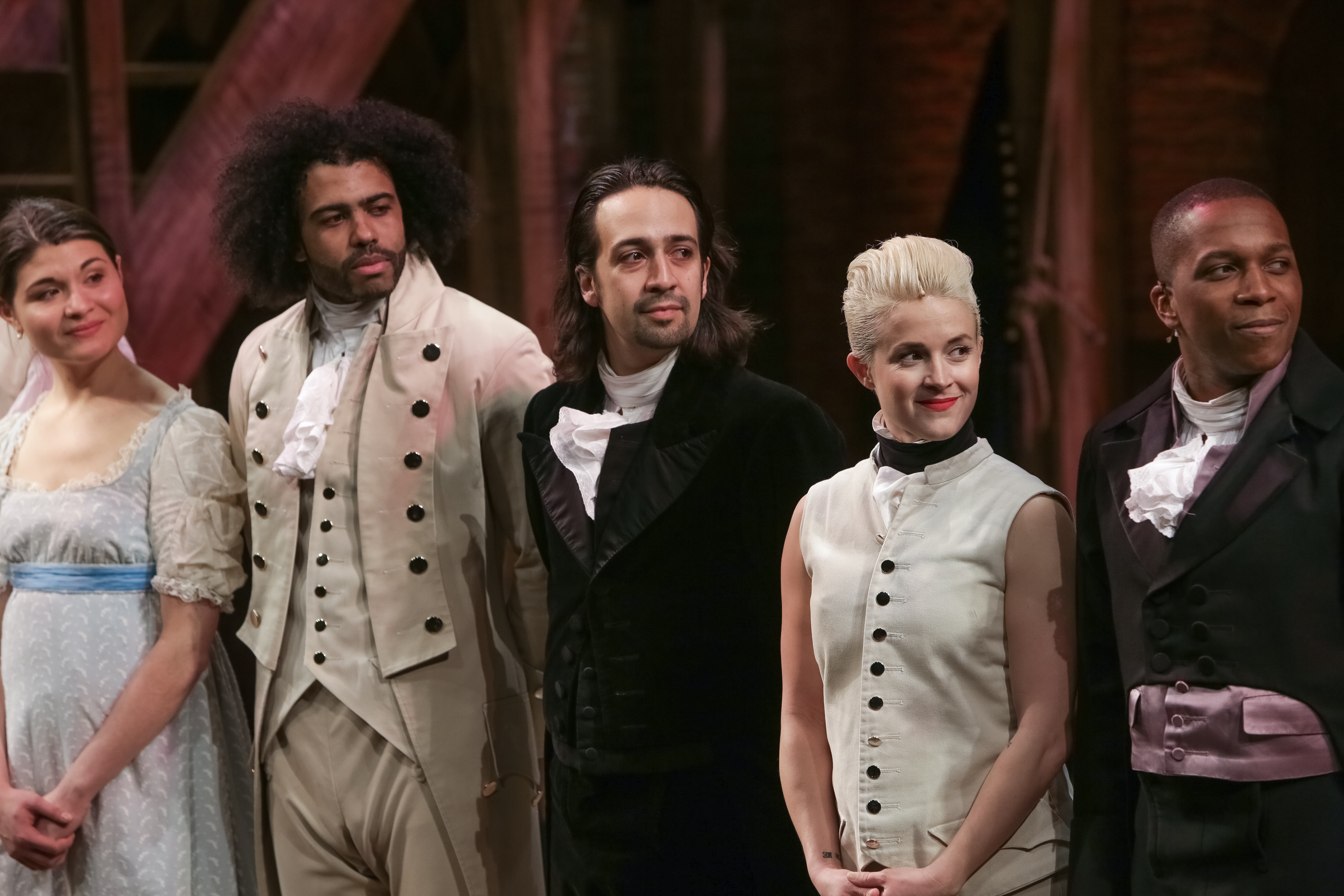 """Cast-members from the hit Broadway musical, """"Hamilton."""""""