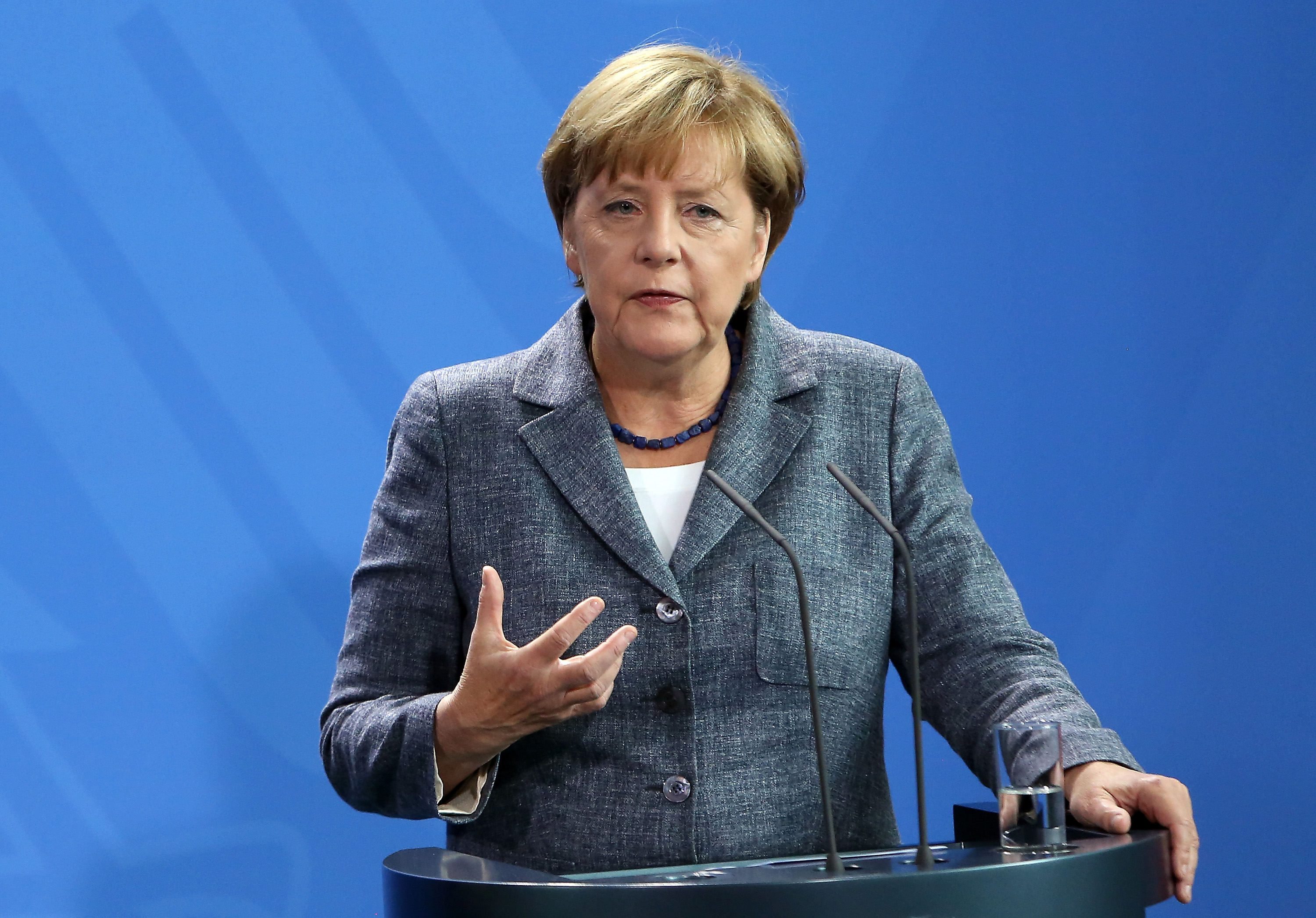 Merkel And Feymann Discuss Migrants Crisis