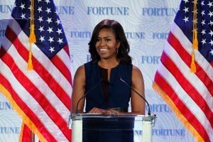 speaks onstage during Fortune's Most Powerful Women Summit - Day 2 atThe Robert and Arlene Kogod Courtyard on October 13, 2015 in Washington, DC.