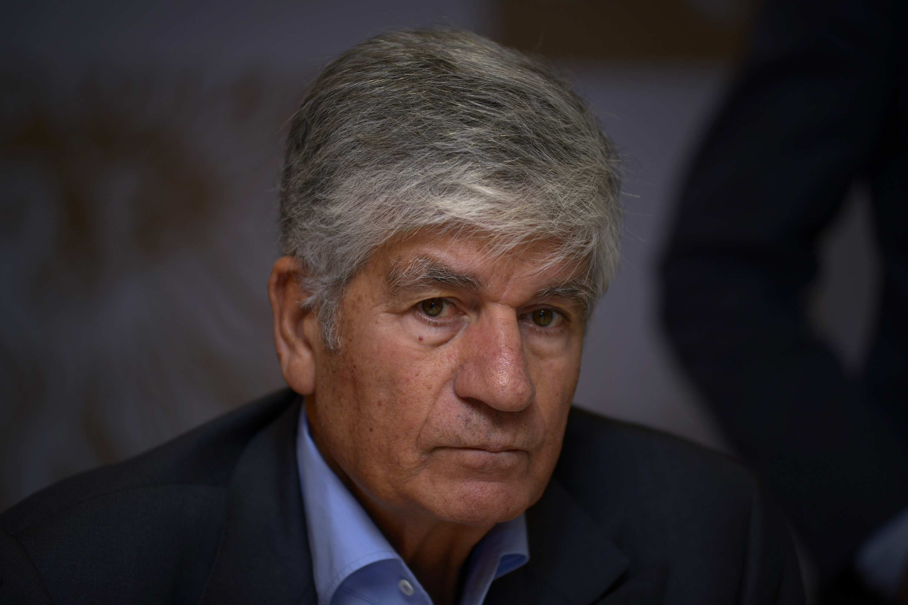 Maurice Levy, Chairman & CEO of Publicis Group, Addresses A Press Conference
