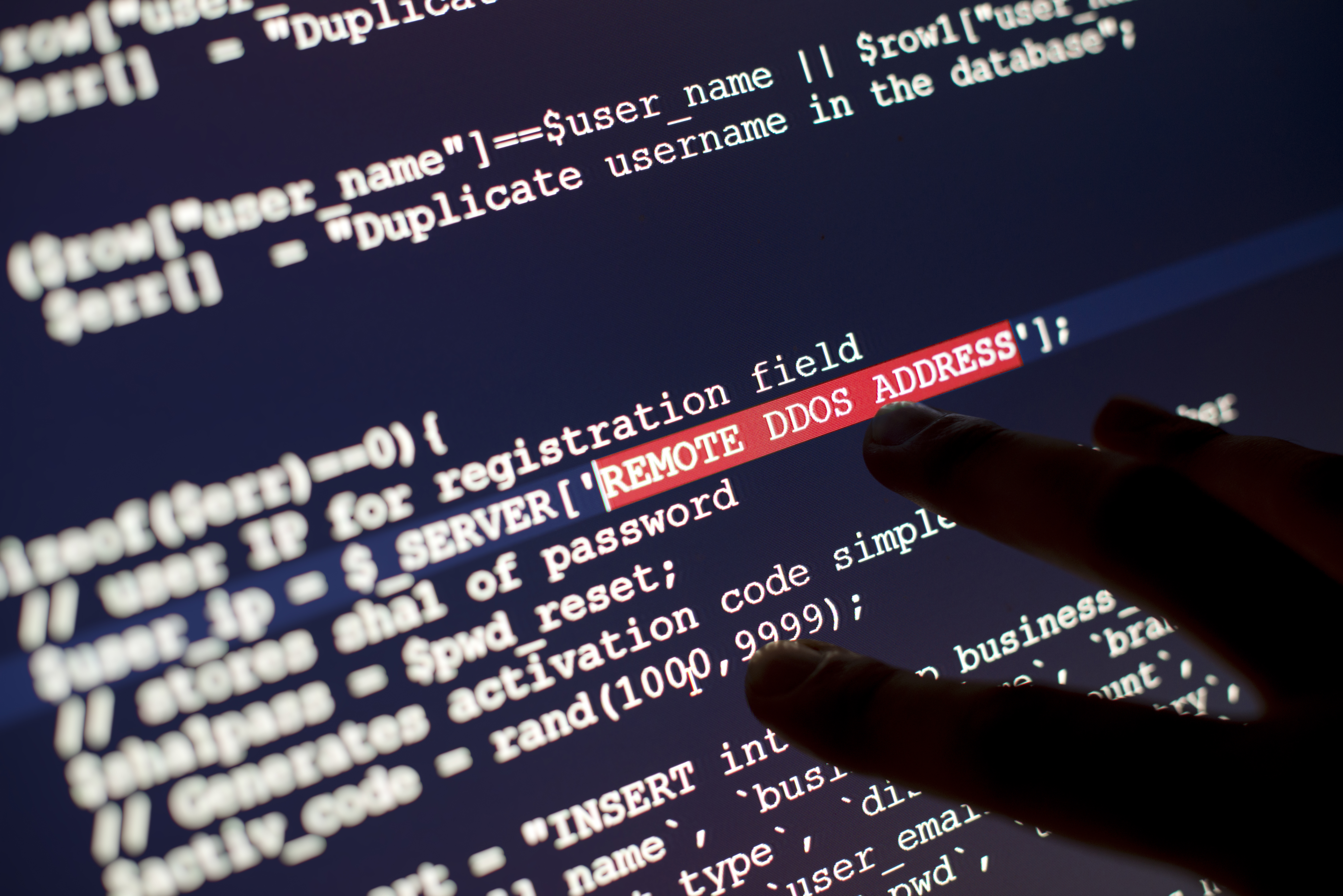 Hacker codes.