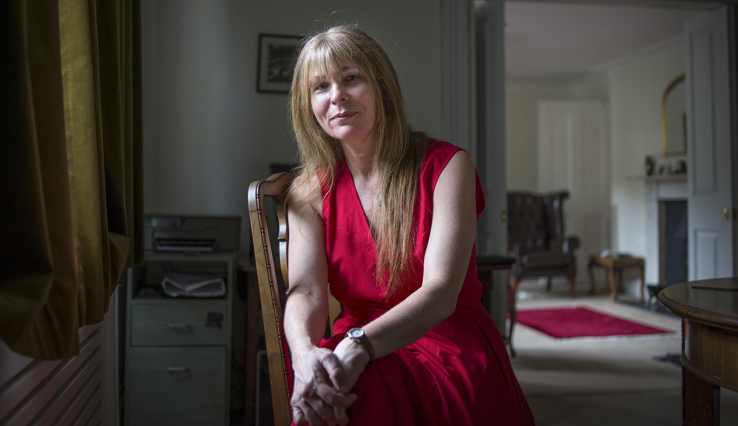 Clare Rewcastle Brown, who is barred from entering her native Malaysia, a former British colony, at her home in London.