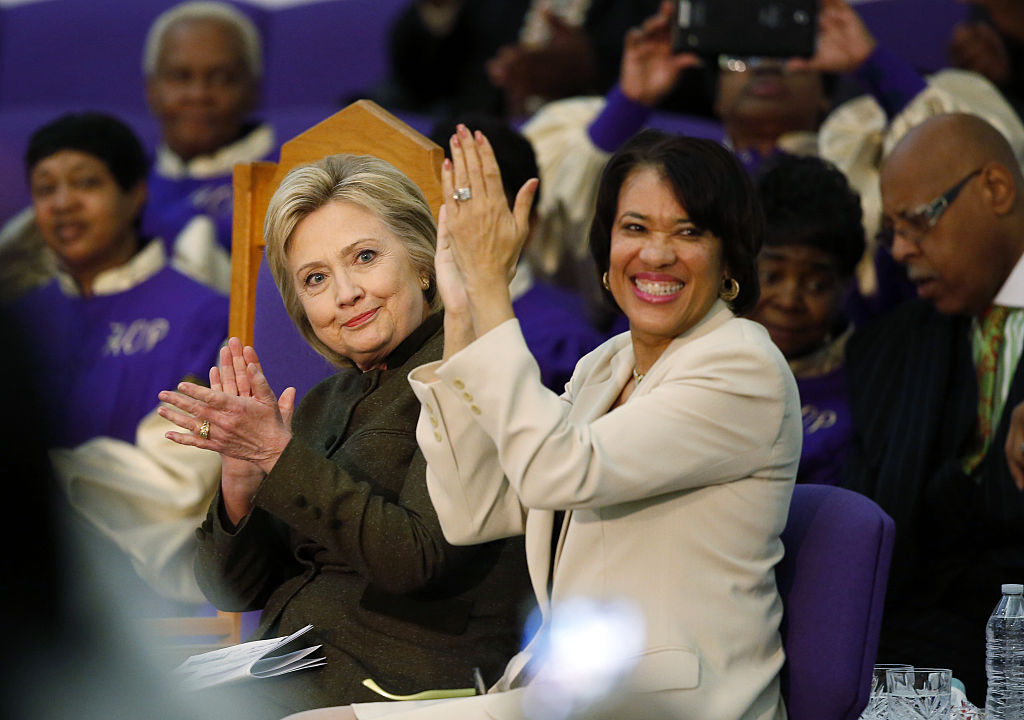 Presidential Candidate Hillary Clinton Attends Flint Community Meeting With Mayor Karen Weave