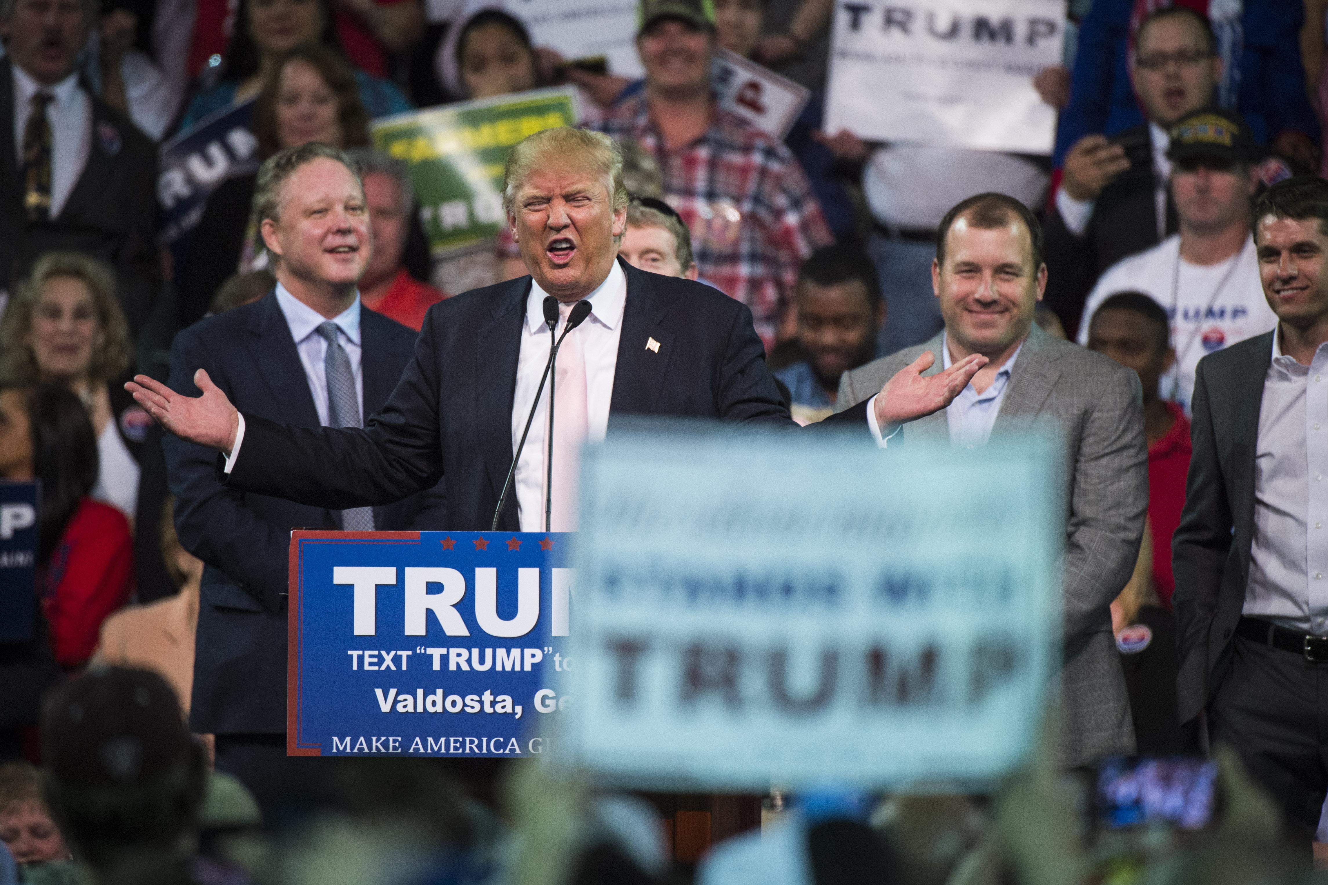 Donald Trump in Georgia.
