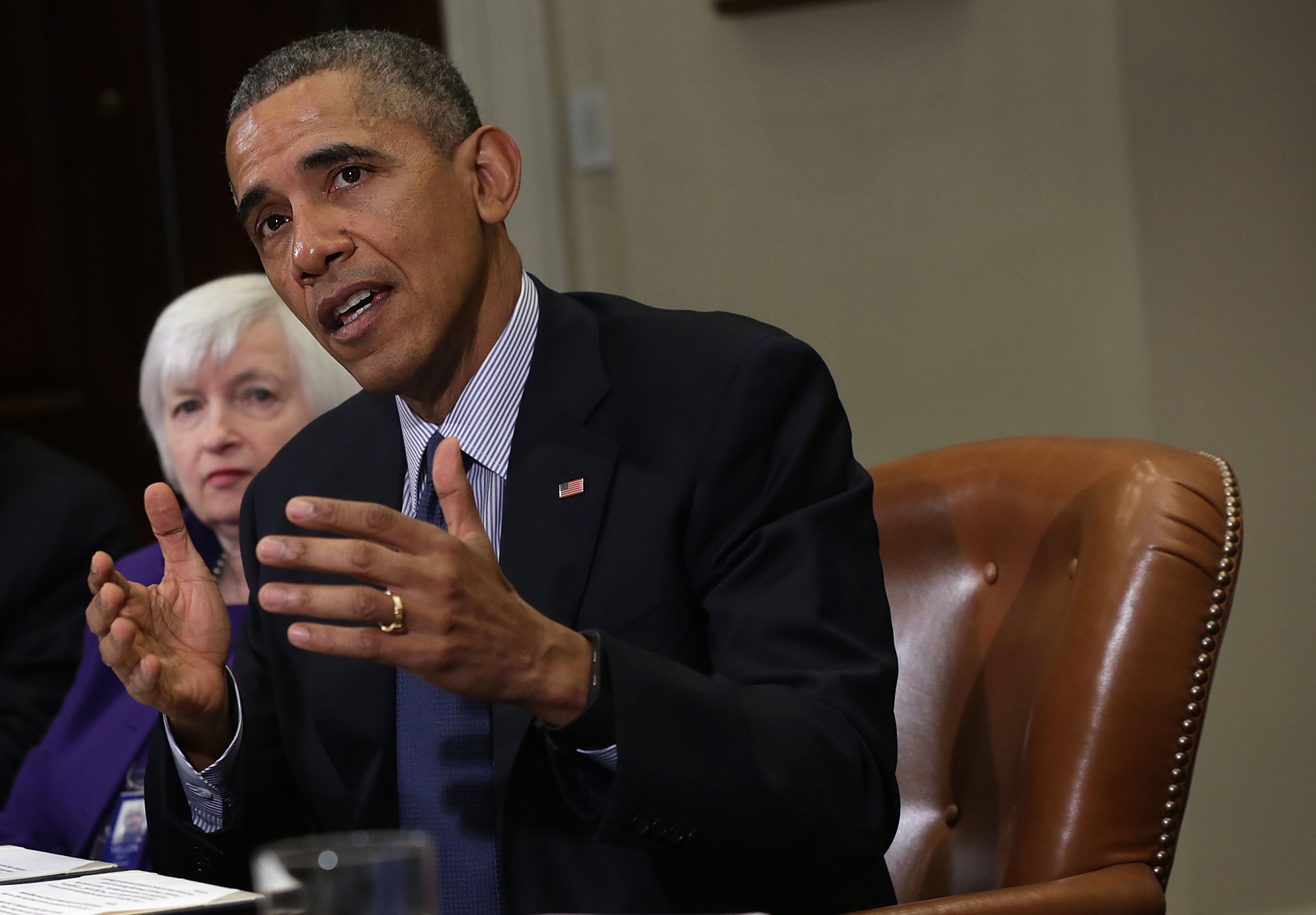 President Obama Meets With Financial Regulators On Wall Street Reform