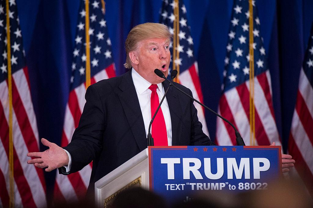 Donald Trump in Jupiter, Florida.