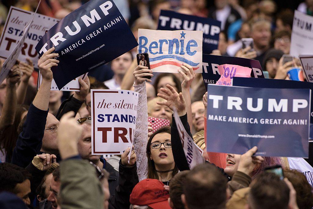 US-VOTE-TRUMP-RALLY-PROTEST-POLITICS-REPUBLICAN