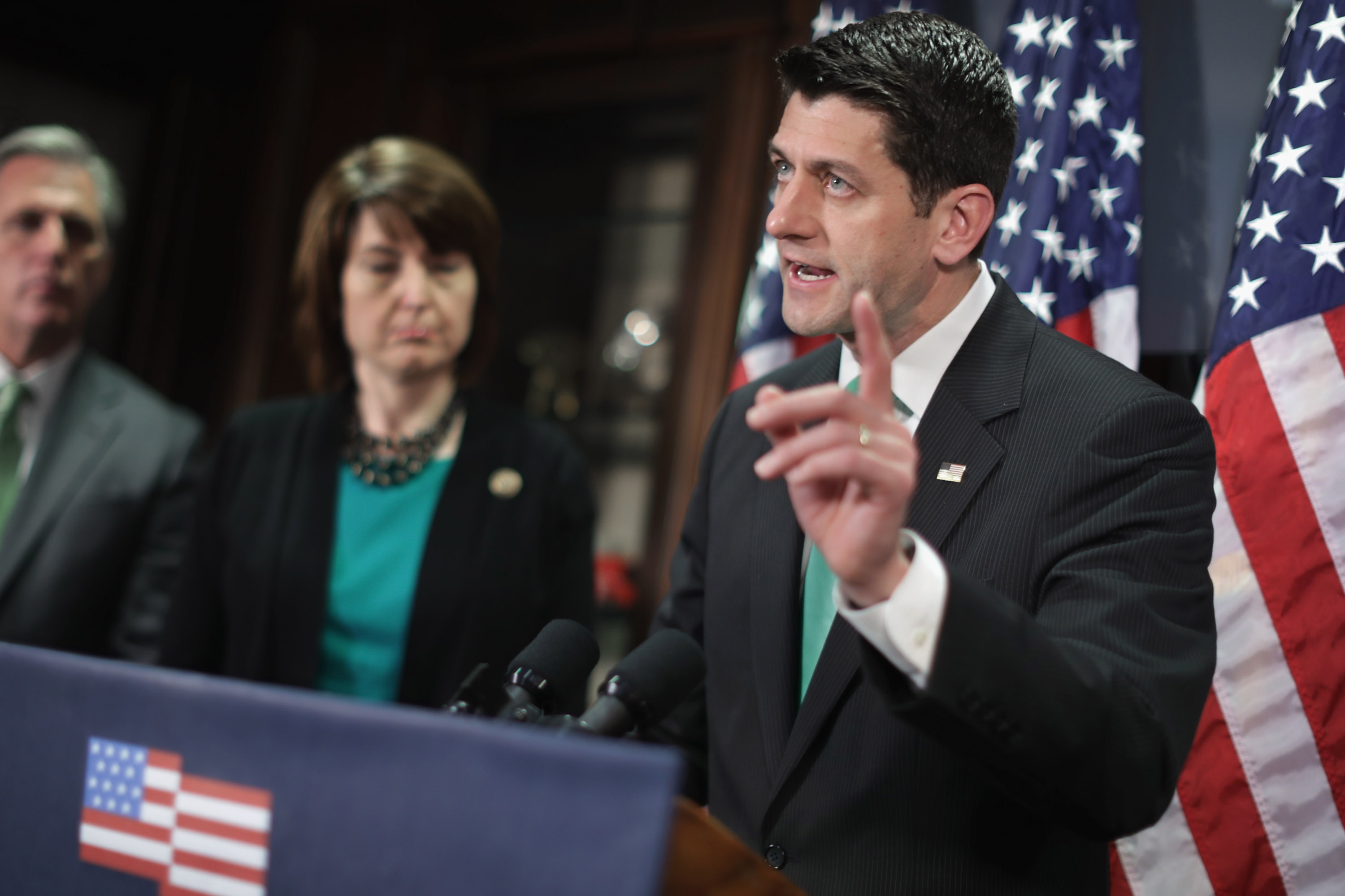 House Republican Leadership Address The Press After Weekly Conference Meeting