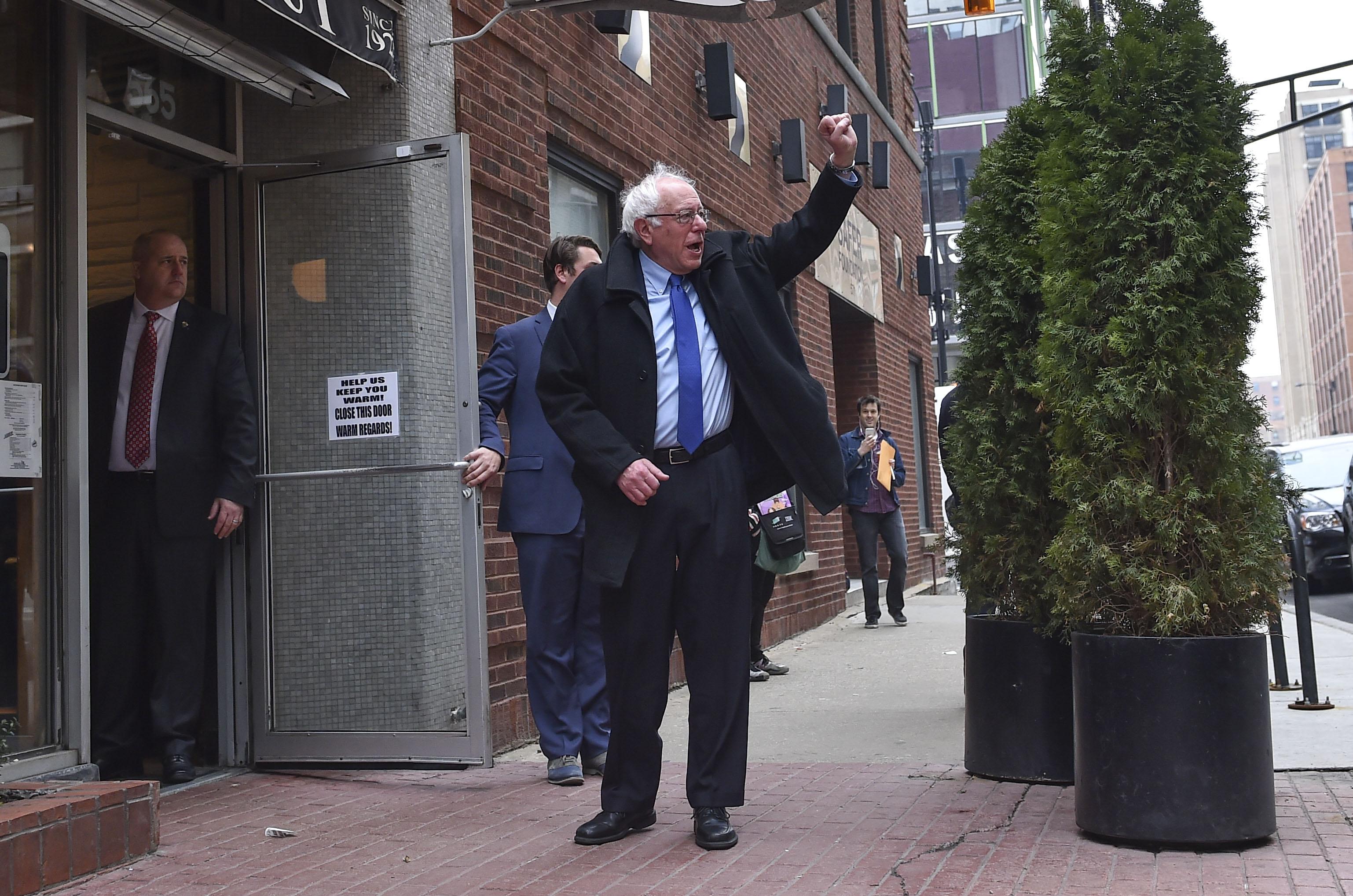 CHICAGO, IL - MARCH 15: Democratic presidential candidate Berni