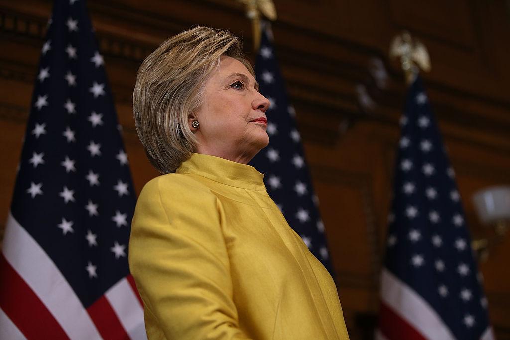 Hillary Clinton Delivers Counterterrorism Speech At Stanford University