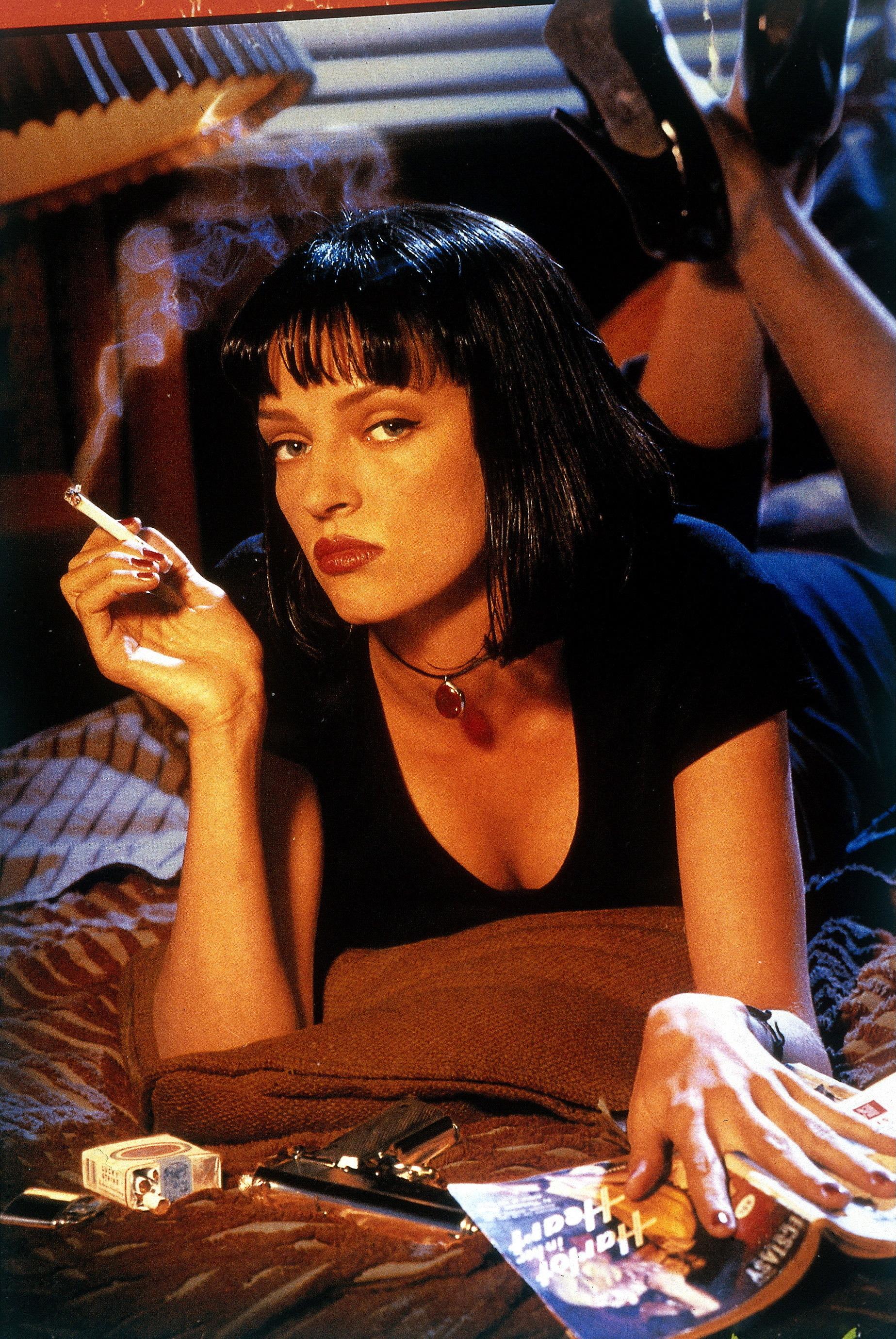 "Uma Thurman in ""Pulp Fiction"""