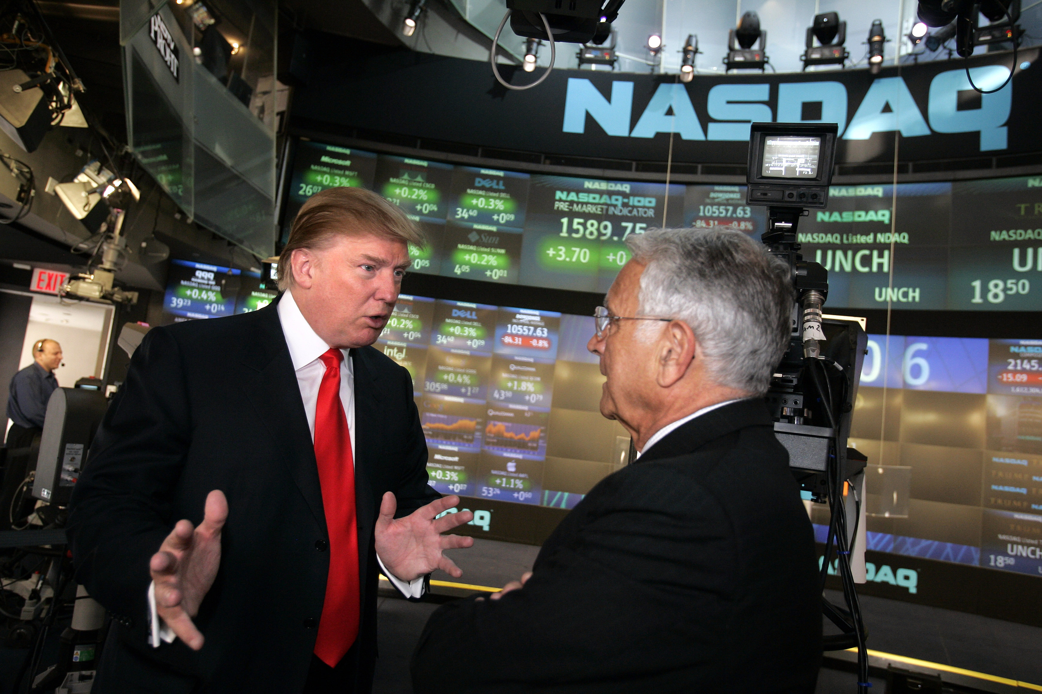 Donald Trump Presides Over NASDAQ Opening