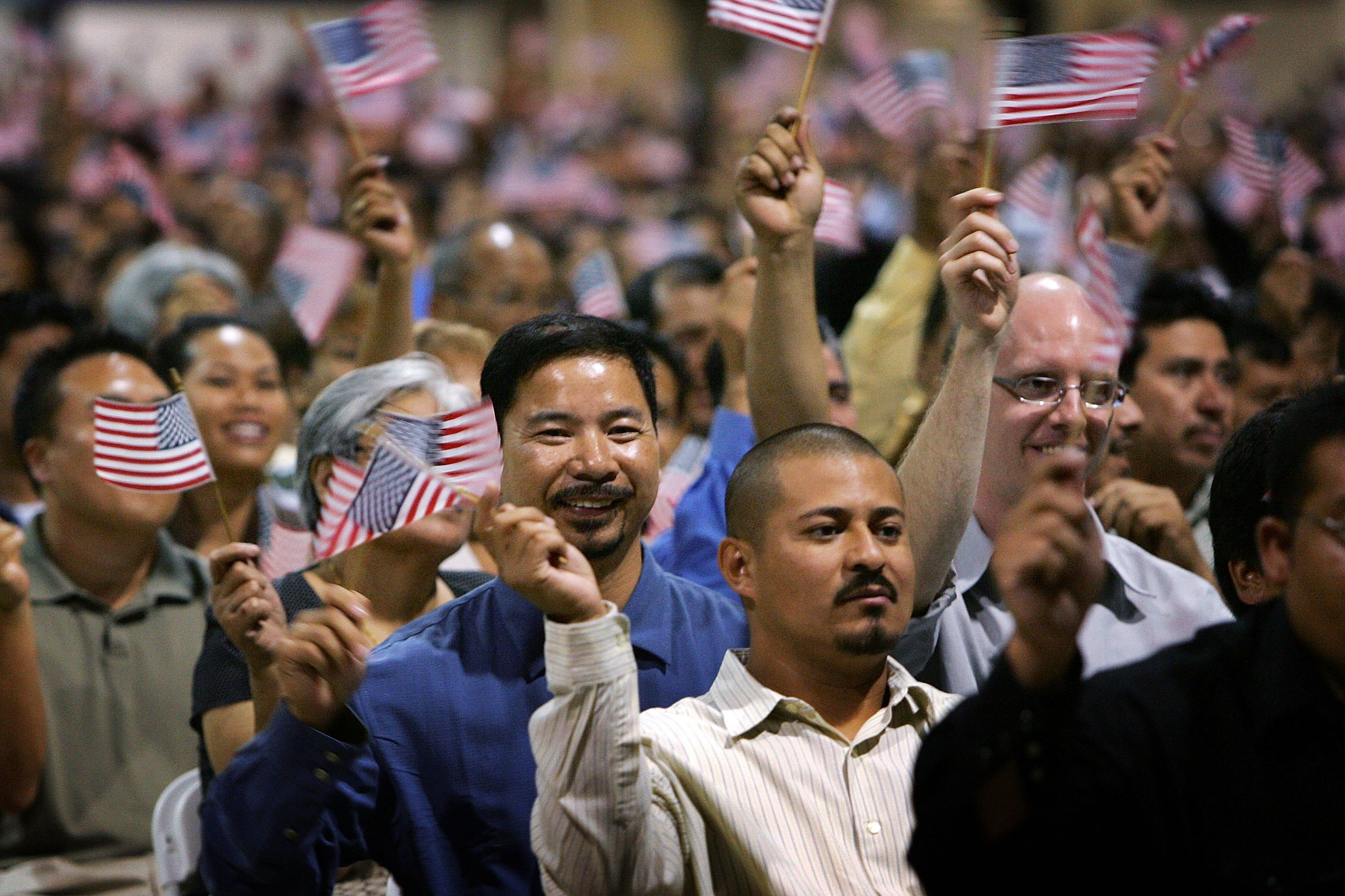 Thousands Become Citizens At Naturalization Ceremony