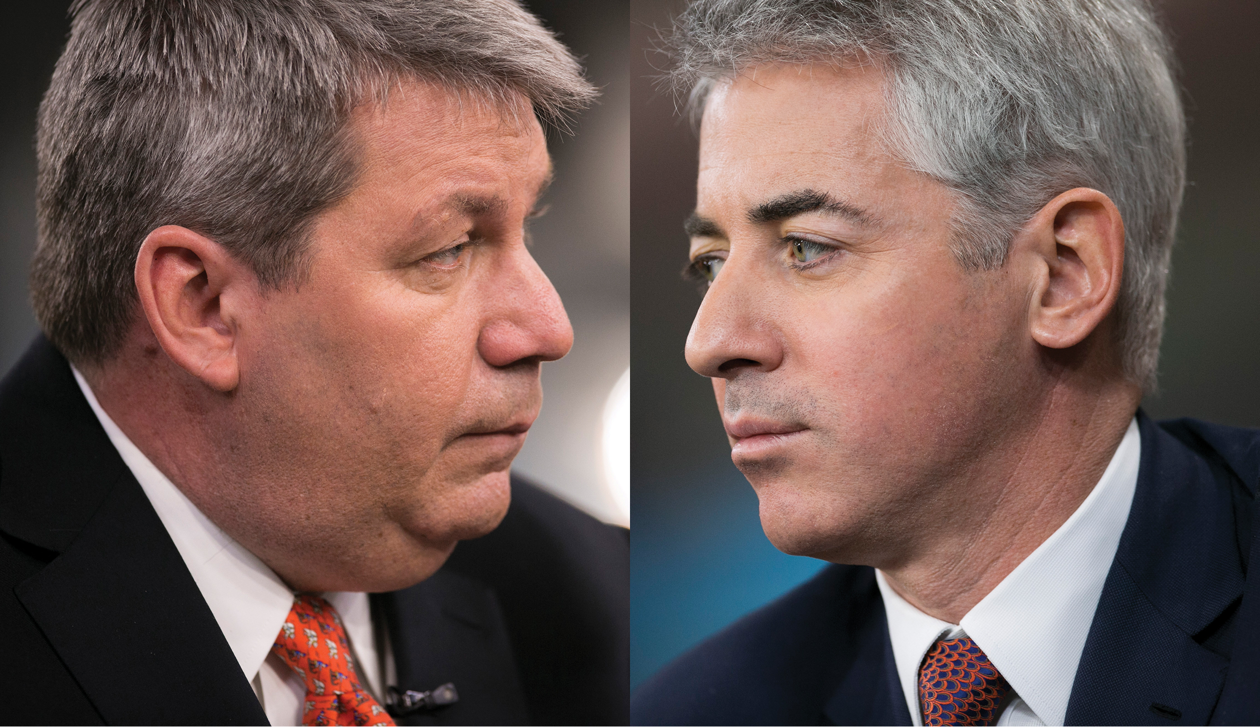 Michael Pearson (left) and Bill Ackman