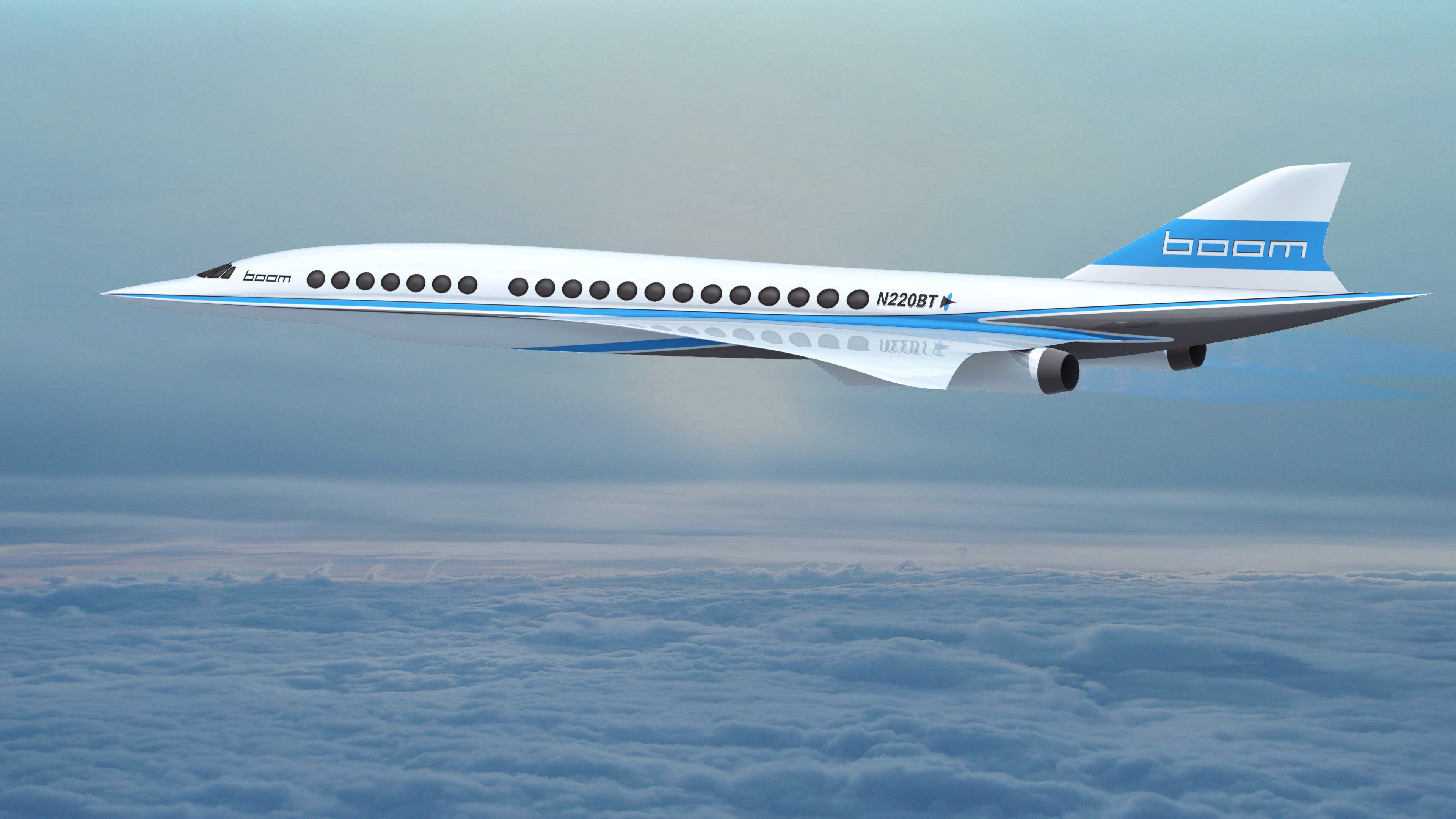 Boom's upcoming supersonic plane.