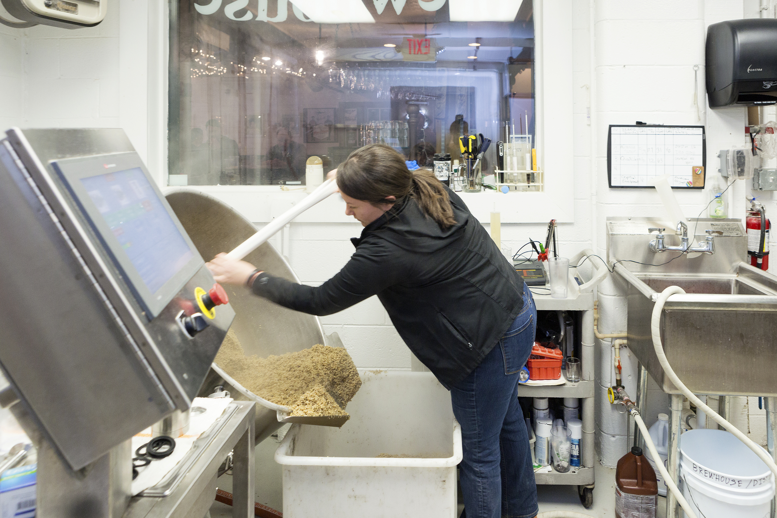 Rehoboth Beach, DE, Jan 12th 2016, Sam Calagione owner of Dogfish Beer is making a test batch at the original Brewpub at Dogfish Head Brewing and Eats. A lime induced brew. Photography By Christopher Lane/ Fortune Mag